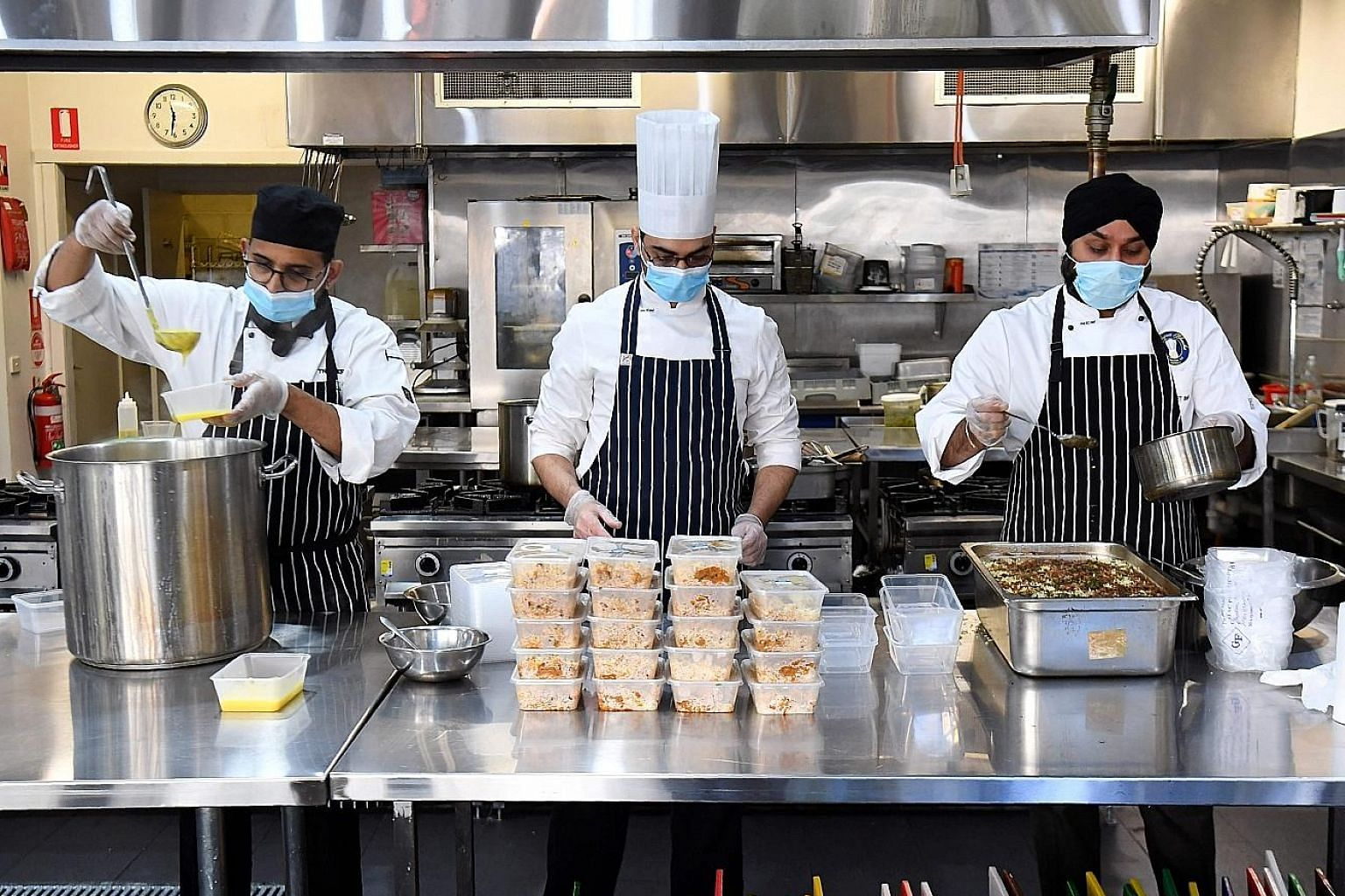 The Melbourne City Institute of Education's kitchen. Net immigration in Australia, including international students and those on skilled worker visas, is expected to fall 85 per cent in the fiscal year to June 2021, curbing demand for everything from