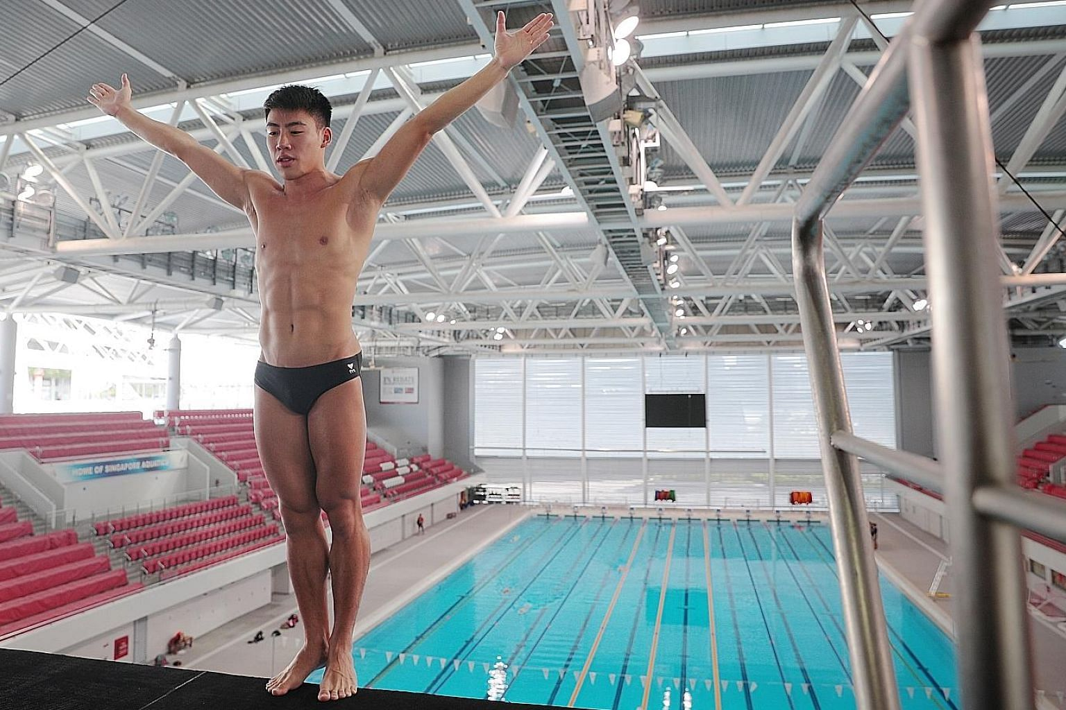 Jonathan Chan has been relishing his return to training for next year's Tokyo Summer Games. Chan, the first Singaporean diver to qualify for the Olympics, admitted to being rusty but is grateful to be back in the pool as Singapore exited the circuit