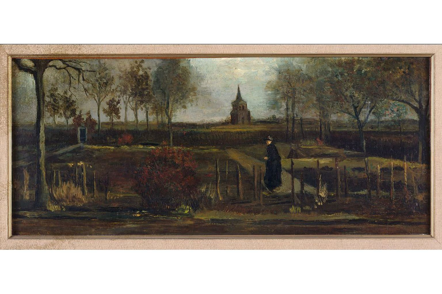 The Parsonage Garden At Nuenen In Spring by Vincent van Gogh in a handout photo released by the Singer Laren Museum in March.