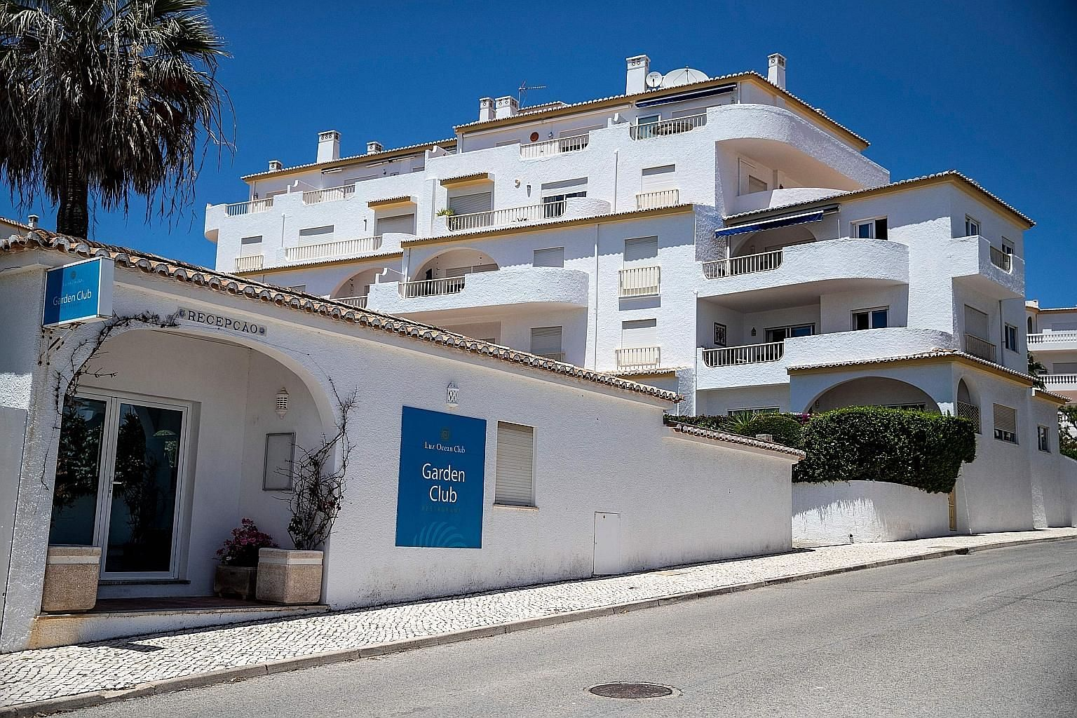 The hotel in Portugal where three-year-old Madeleine McCann disappeared in 2007 while on holiday with her family. The German authorities say she is now assumed to be dead. PHOTO: AGENCE FRANCE-PRESSE