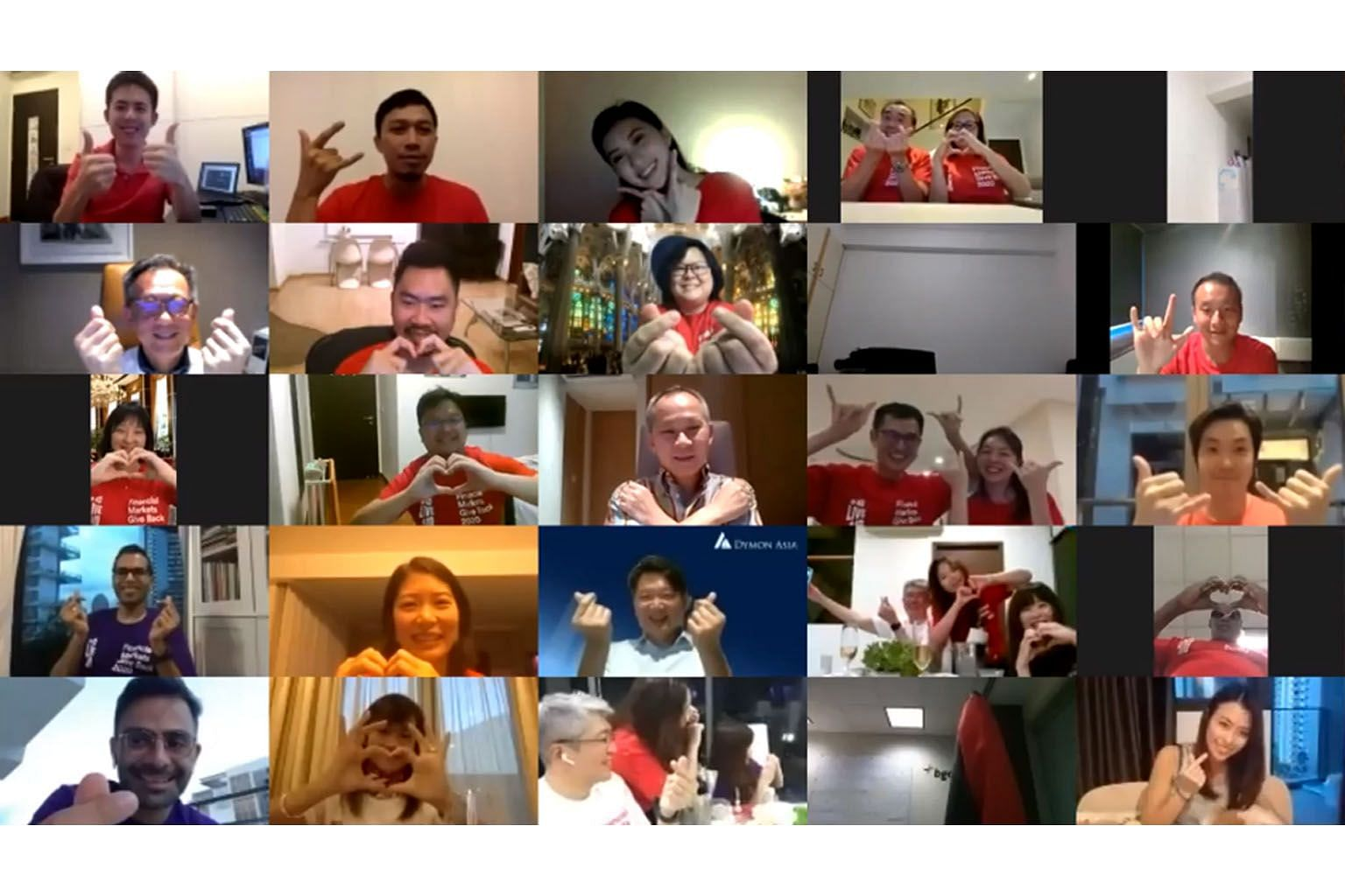 Guests attending ACI Singapore's fund-raising dinner via Zoom on May 29. The dinner raised over $500,000 for a new fund for projects that meet the needs of vulnerable groups in society, even beyond Covid-19.