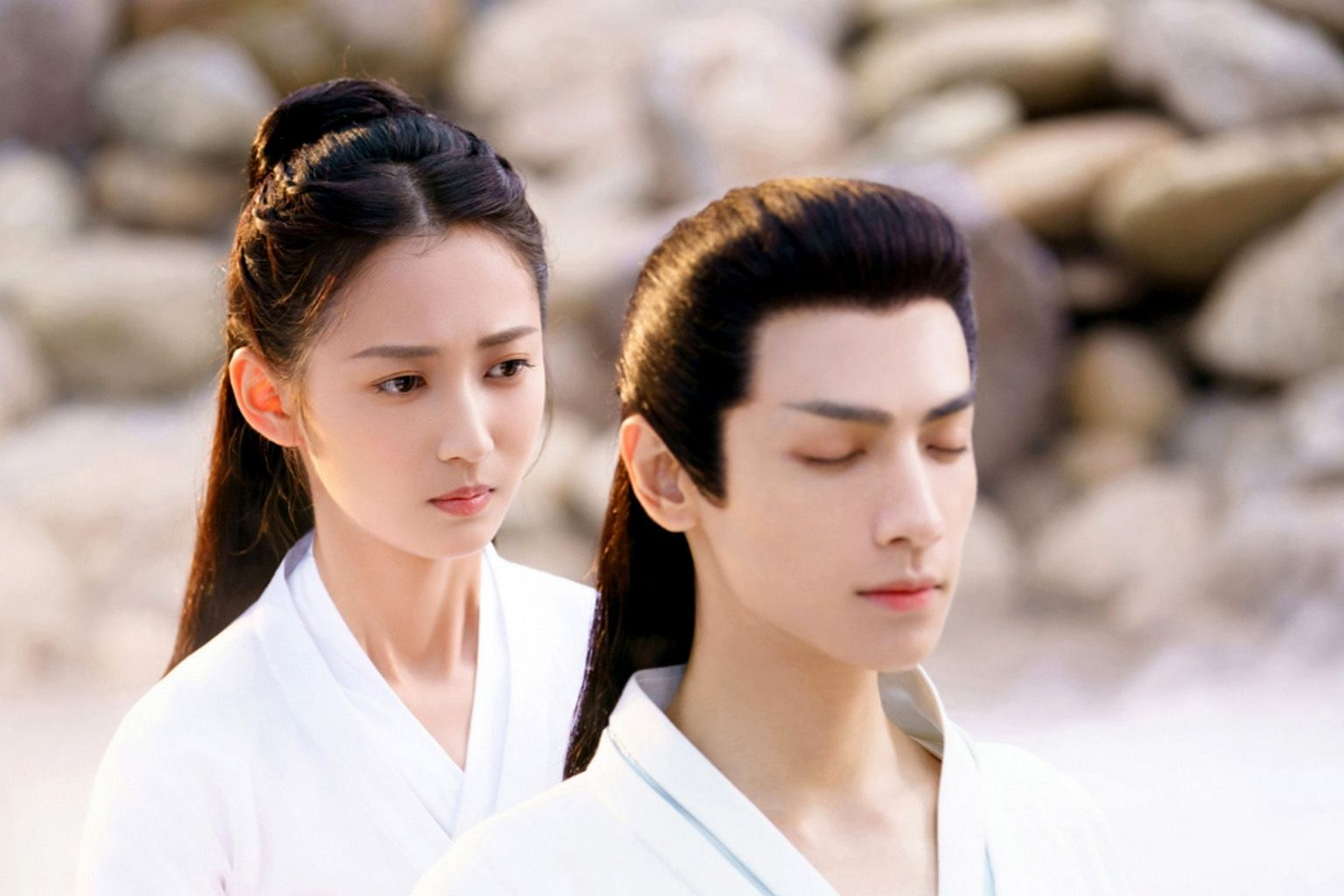 (Far left) Yukee Chen and Leo Luo star in the Chinese period drama And The Winner Is Love. (Left) Seven Tan and Allen Ren star in Under The Power, a Chinese period drama set during the Ming dynasty.