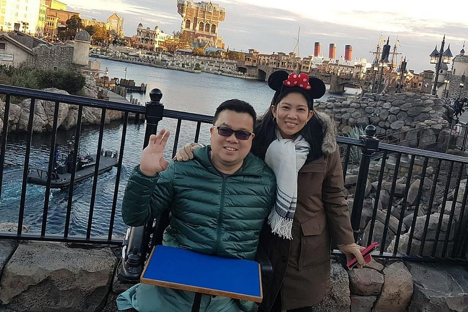 Jason Chee and his fiancee Nonie Dumas on one of their trips. He announced their engagement on Monday.