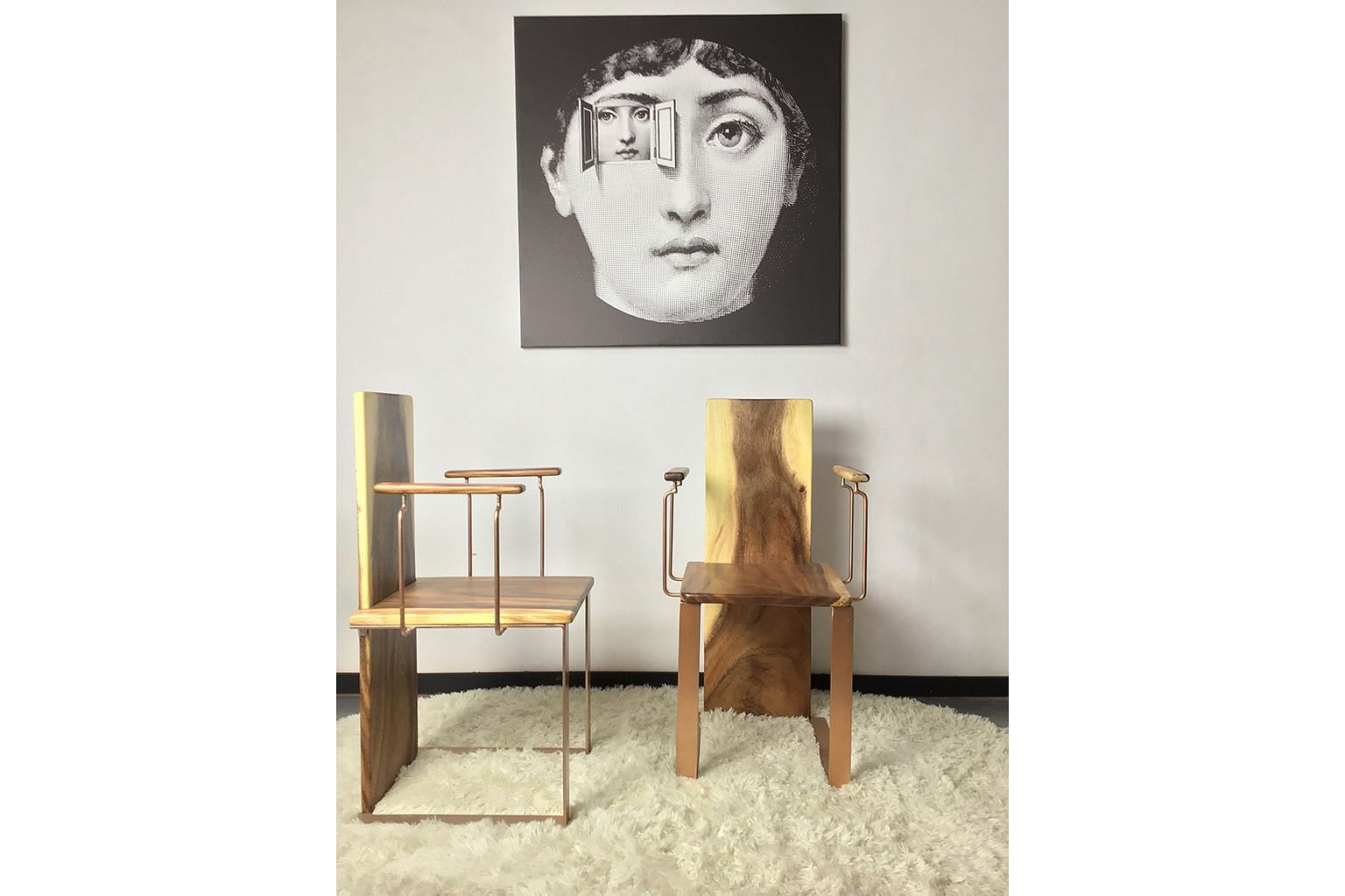 Smoke Signature founder Marcus Wang, whose designs include the Valieri series using suar wood (above), went back to the drawing board during the circuit breaker to sketch a new line of contemporary furniture with slim and lightweight silhouettes.