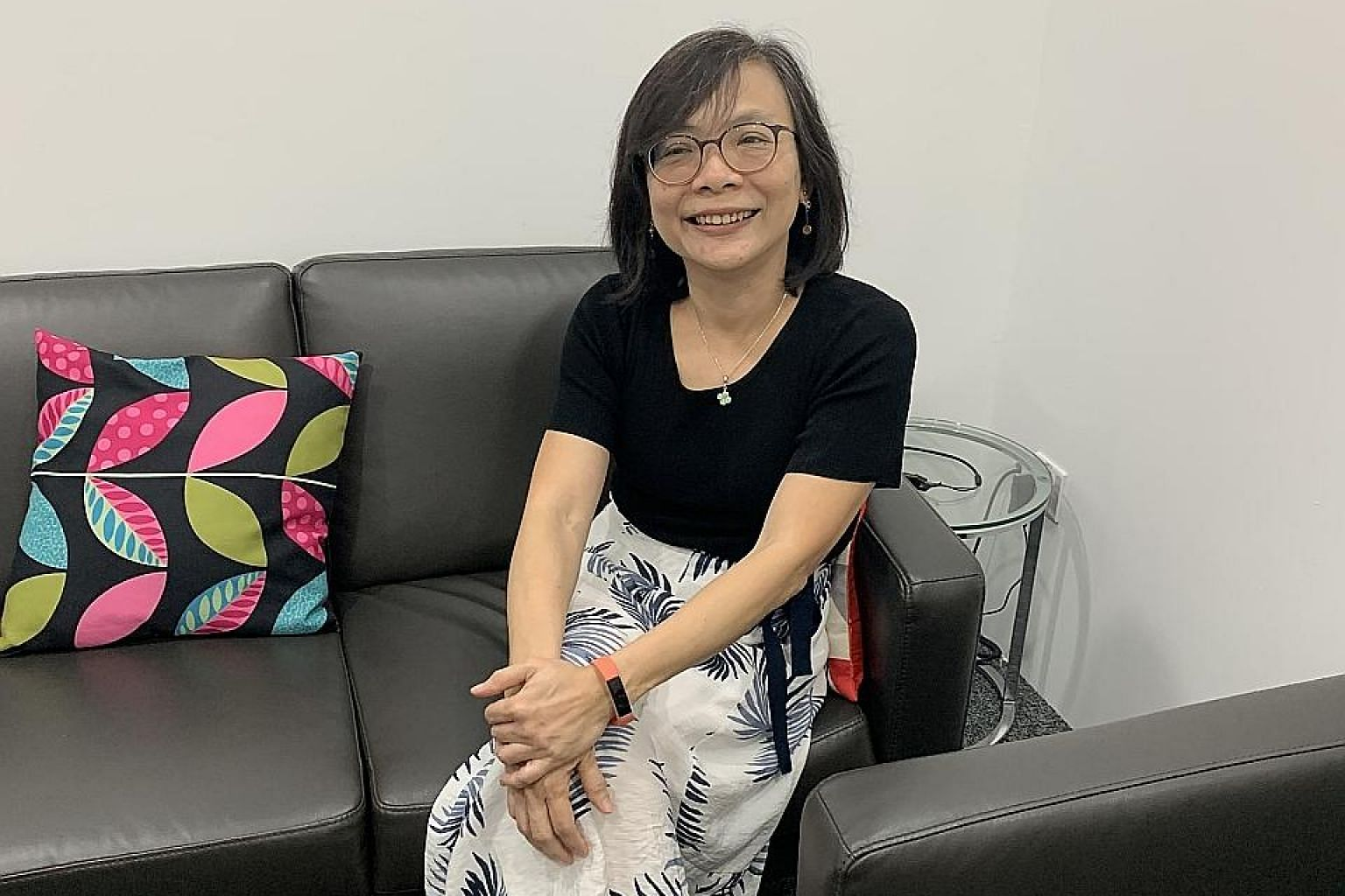 """Ms Emily Ong, seen here at the Alzheimer's Disease Association in late March, was diagnosed with young onset dementia about two years ago at the age of 51. She said her diagnosis was a relief: """"It helps you to better understand yourself. You don't ha"""