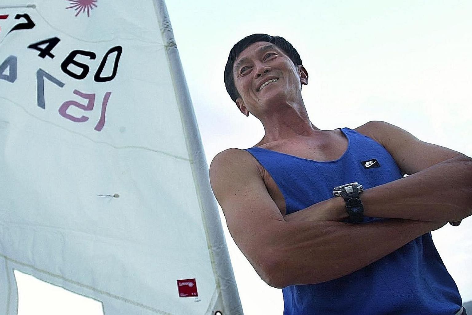 A trim and fit Lock Hong Kit at 56, when he was a physical education teacher. The sailing fraternity hailed him for his integrity and man management skills.