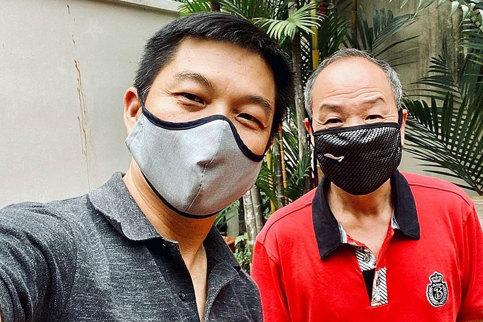 Mr Tan Chuan-Jin (left) said he had kept in touch with former Workers' Party chief Low Thia Khiang after his fall on April 30. PHOTO: TAN CHUAN-JIN/FACEBOOK