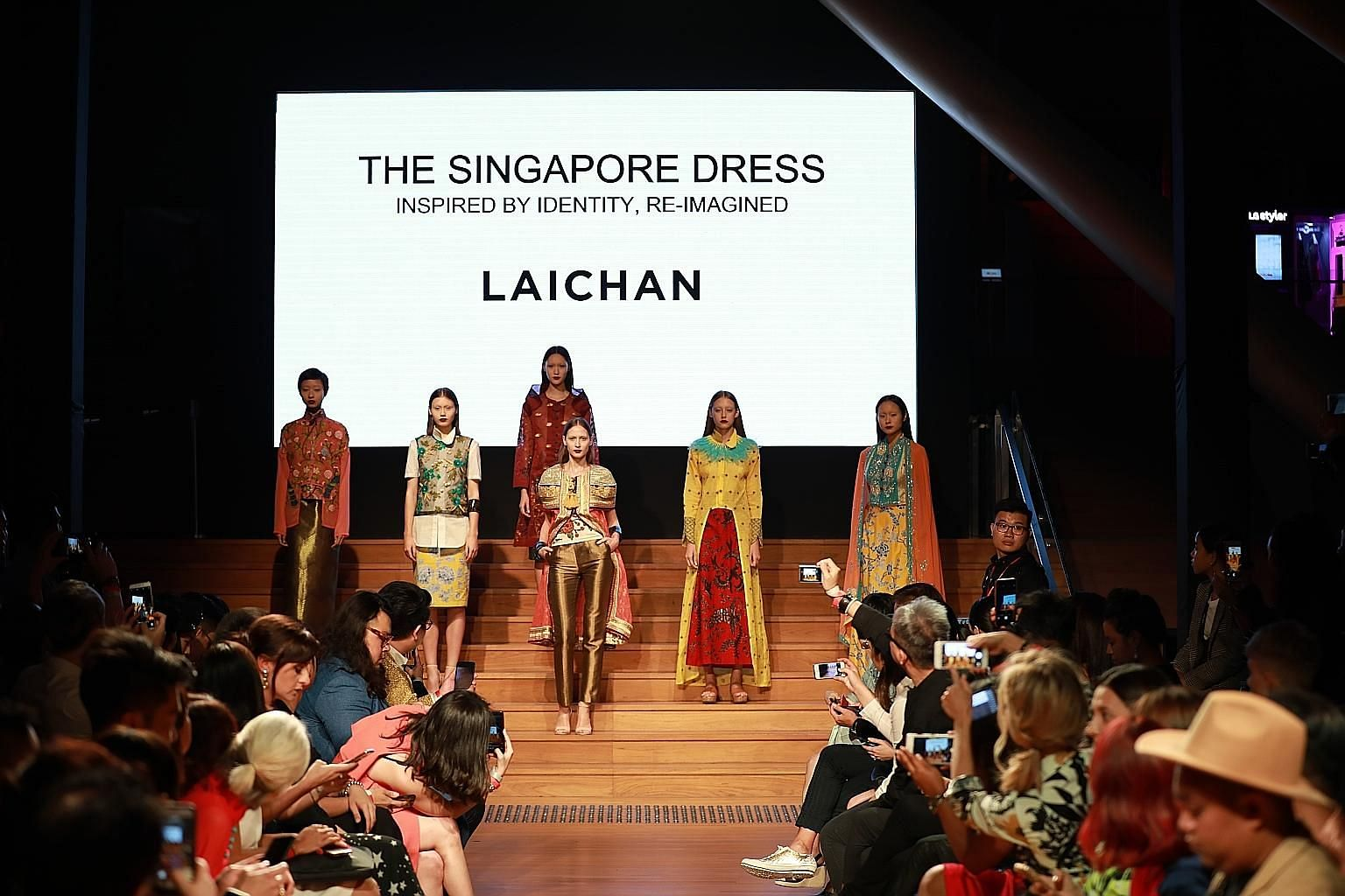 A Singapore Fashion Week show in 2017 featuring designer Lai Chan's collection.