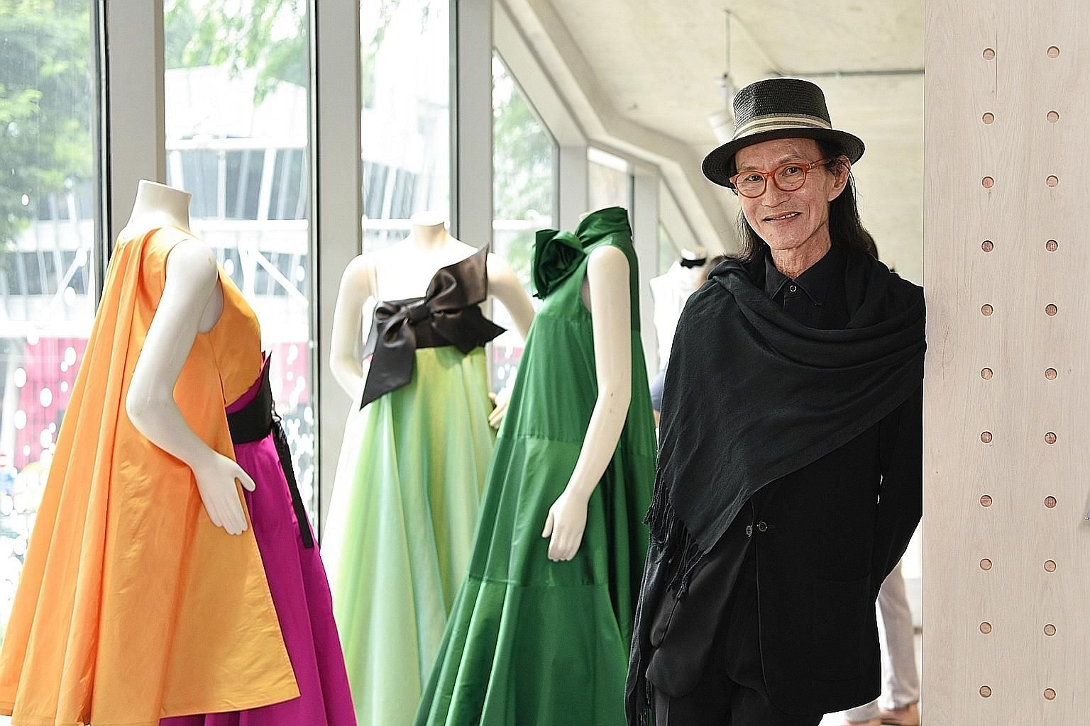 Retired fashion designer Thomas Wee (pictured at the opening of co-working and event space The Cocoon Space last year) says the fashion scene in Singapore now lacks the buzz of the 1980s, considered the golden age of Singapore fashion.