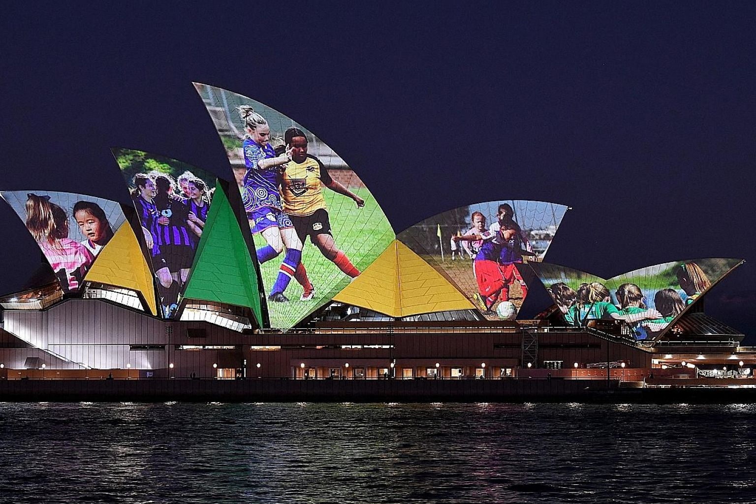 The Sydney Opera House illuminated on Thursday in support of Australia and New Zealand's joint bid to host the Fifa Women's World Cup. Both countries' federations say the 2023 tournament will develop women's football further in Asia and Oceania. The