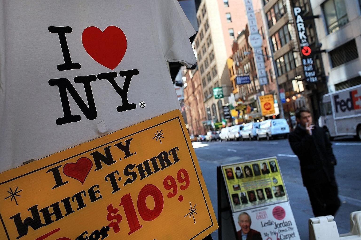 """Milton Glaser (above) designed more than 400 posters in his career. The """"I (HEART) NY"""" logo (above, left) was used for a 1977 campaign to promote tourism in New York."""
