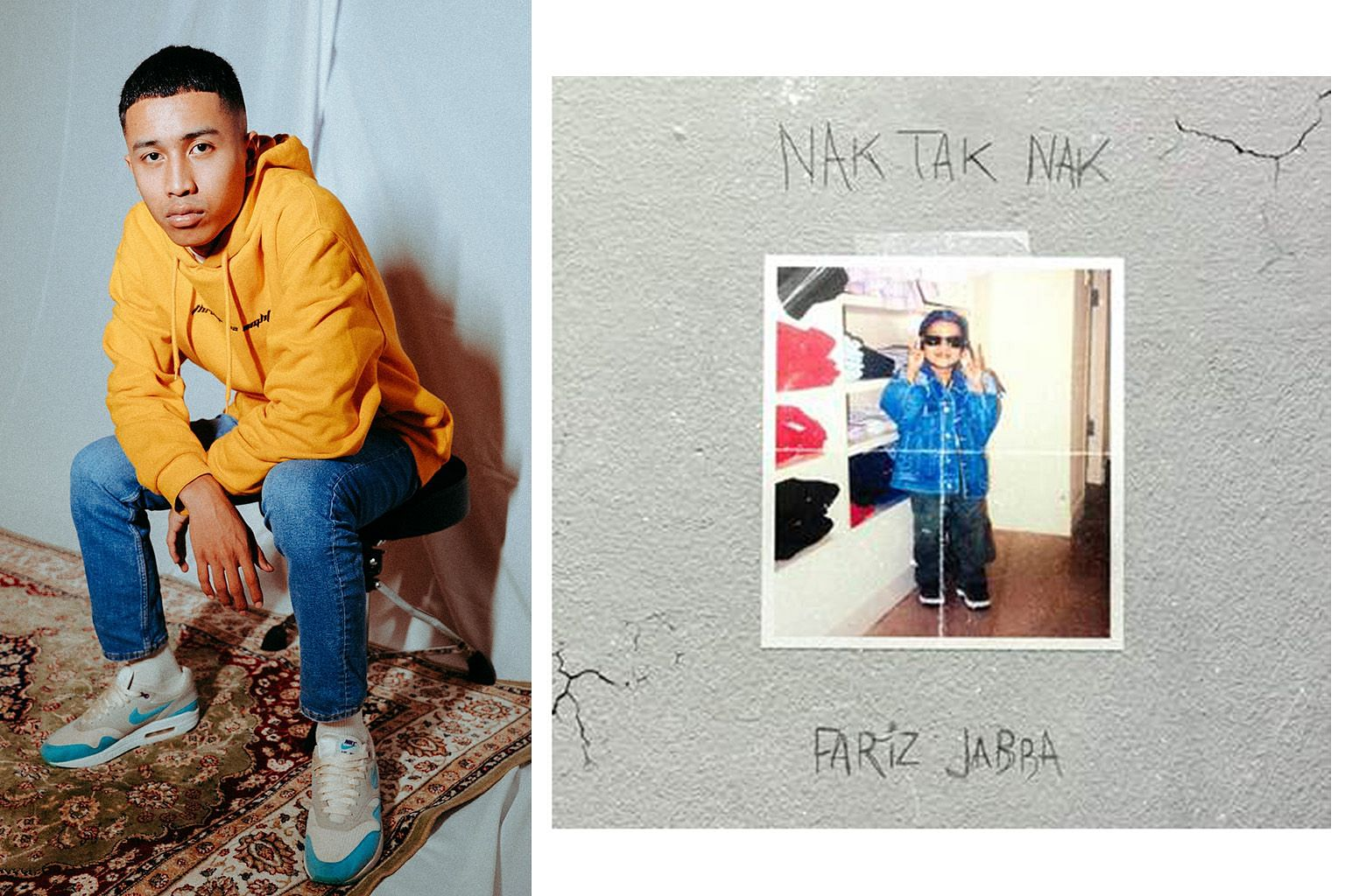 Rapper-singer Fariz Jabba (above) says his single Nak Tak Nak is about how being isolated during the circuit breaker period took a toll on his mental health.