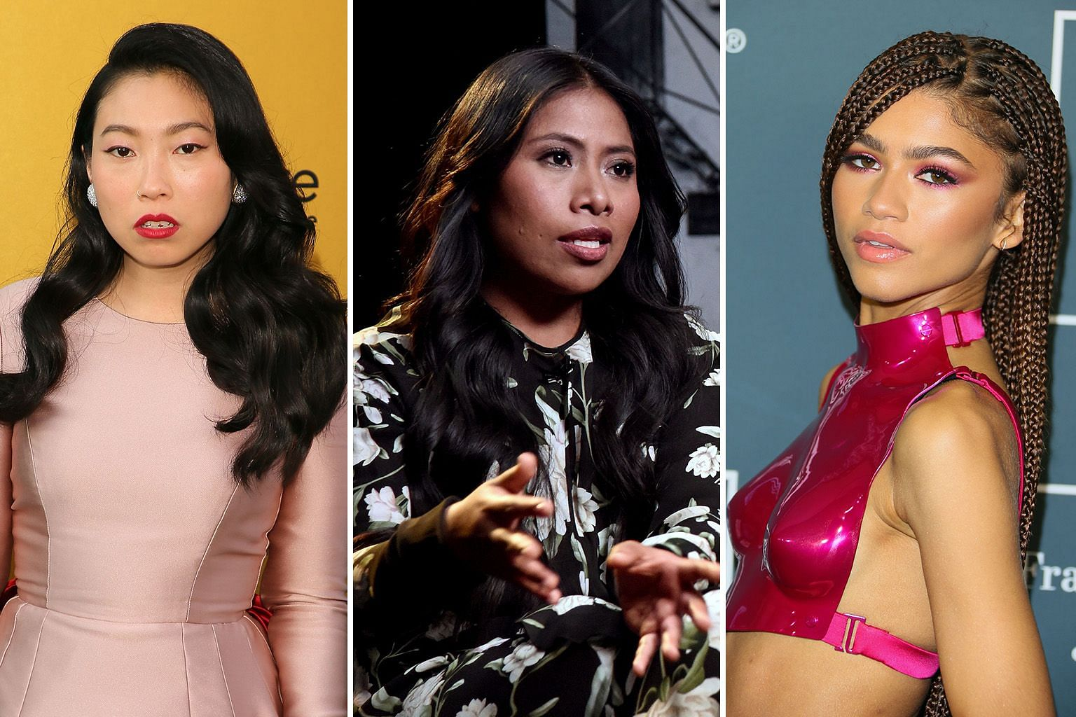 The Academy of Motion Picture Arts and Sciences has invited actresses such as (from far left) Awkwafina, Yalitza Aparicio and Zendaya to join the Oscar voting panel.