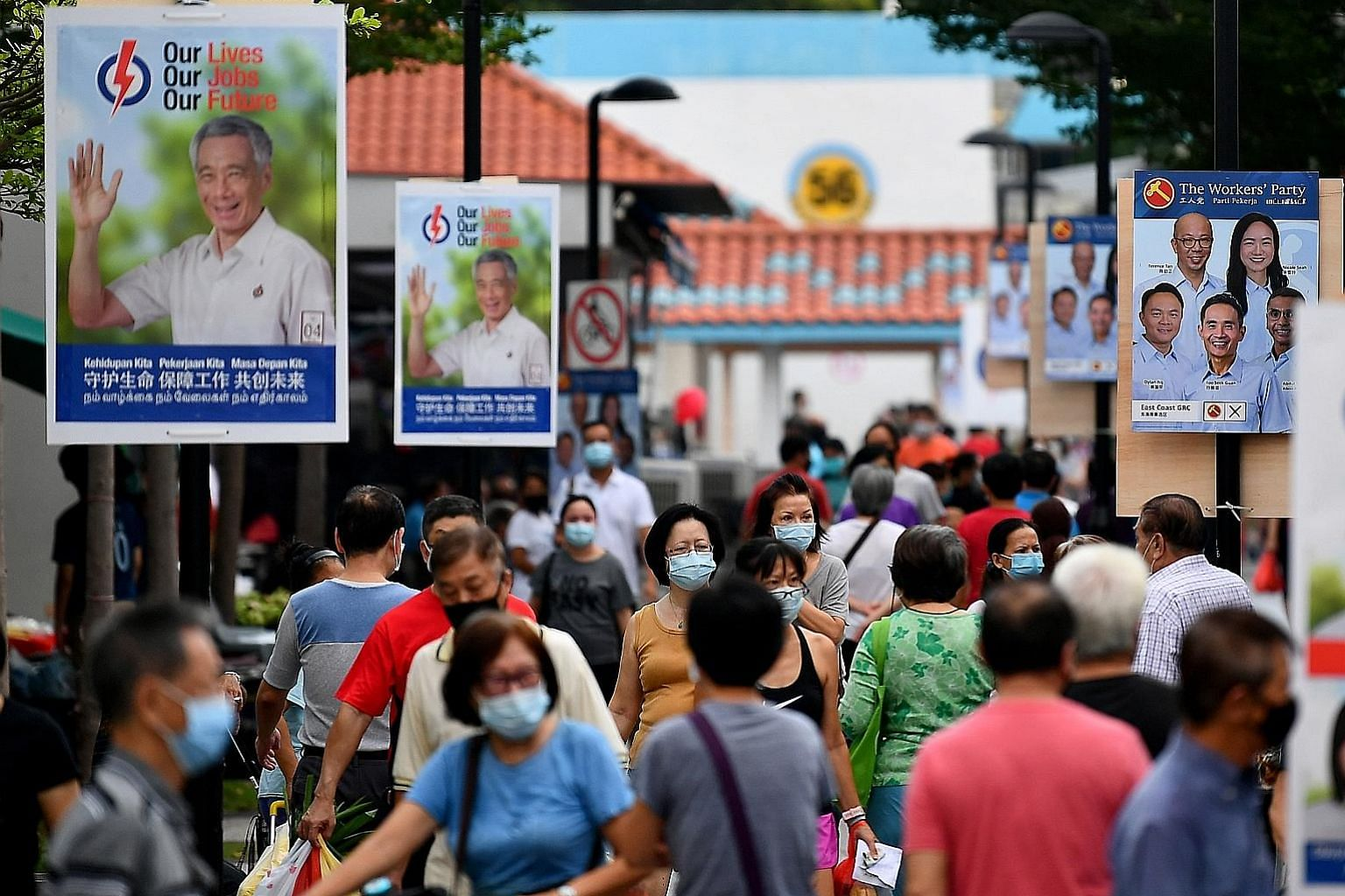 People's Action Party and Workers' Party campaign posters in East Coast GRC. With day eight of the campaign today, Singapore is heading into the final days of a rather unusual election, with its respectful tone. Rather than focus on personalities, th