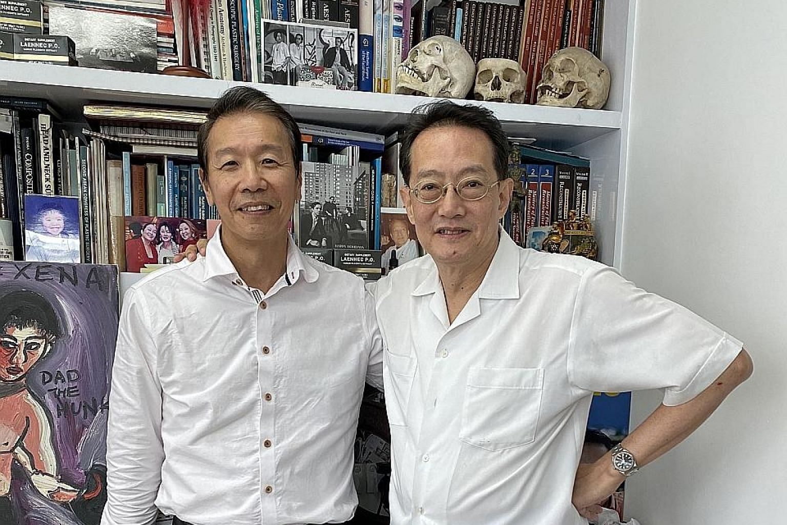 The writer with his best friend, Dr Phillip Tseng (far left), who is an anaesthetist.