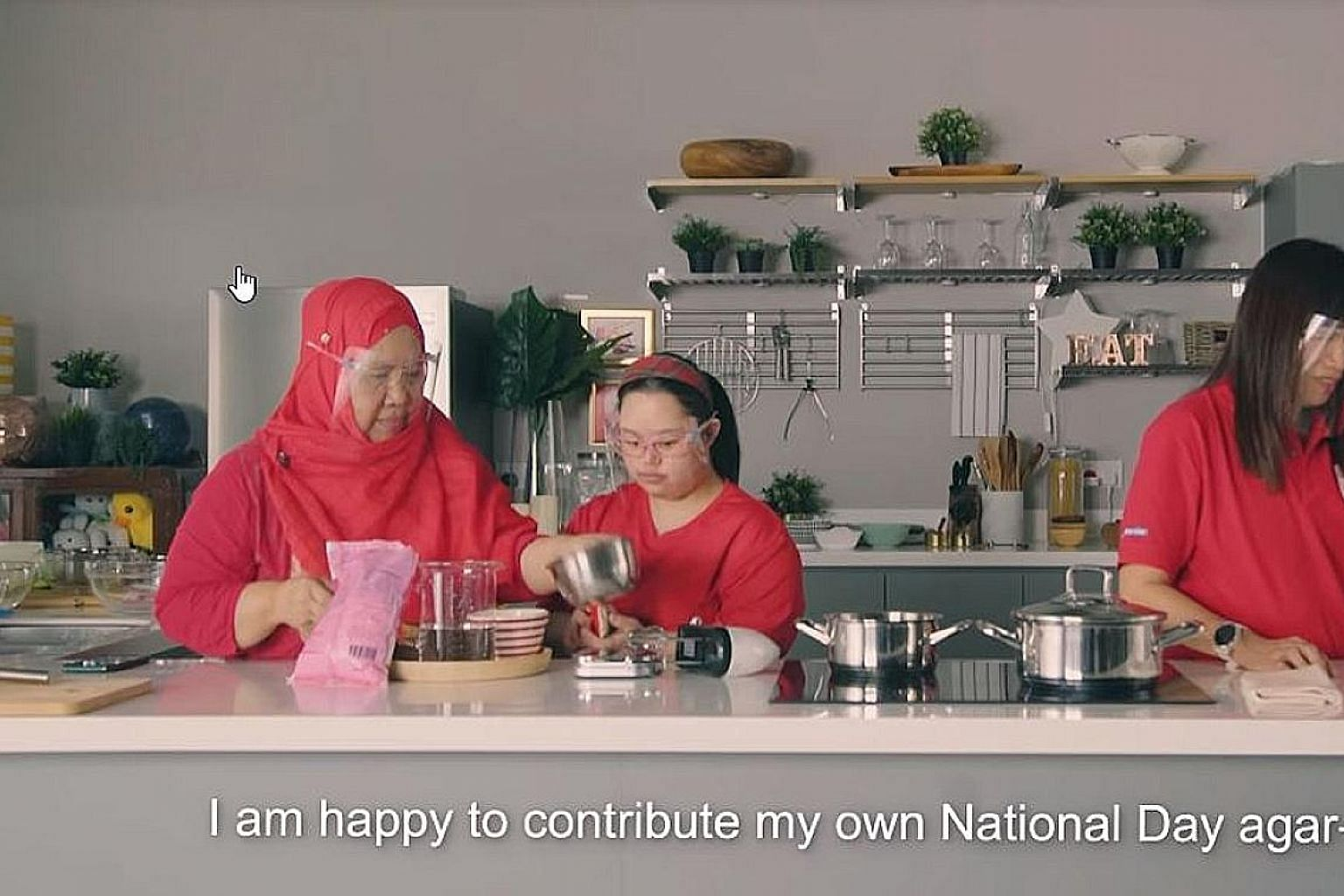 Bakers from Minds, shown in this screengrab, will be making and selling their own National Day-themed cookies. PHOTO: HALIMAH YACOB/FACEBOOK