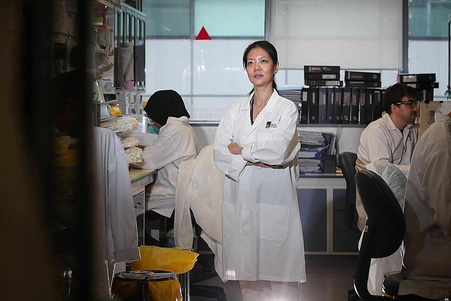 The findings were made by scientists from the National Centre for Infectious Diseases and the Agency for Science, Technology and Research. ST PHOTO: SHINTARO TAY Professor Lisa Ng, senior principal investigator at A*Star's Singapore Immunology Networ