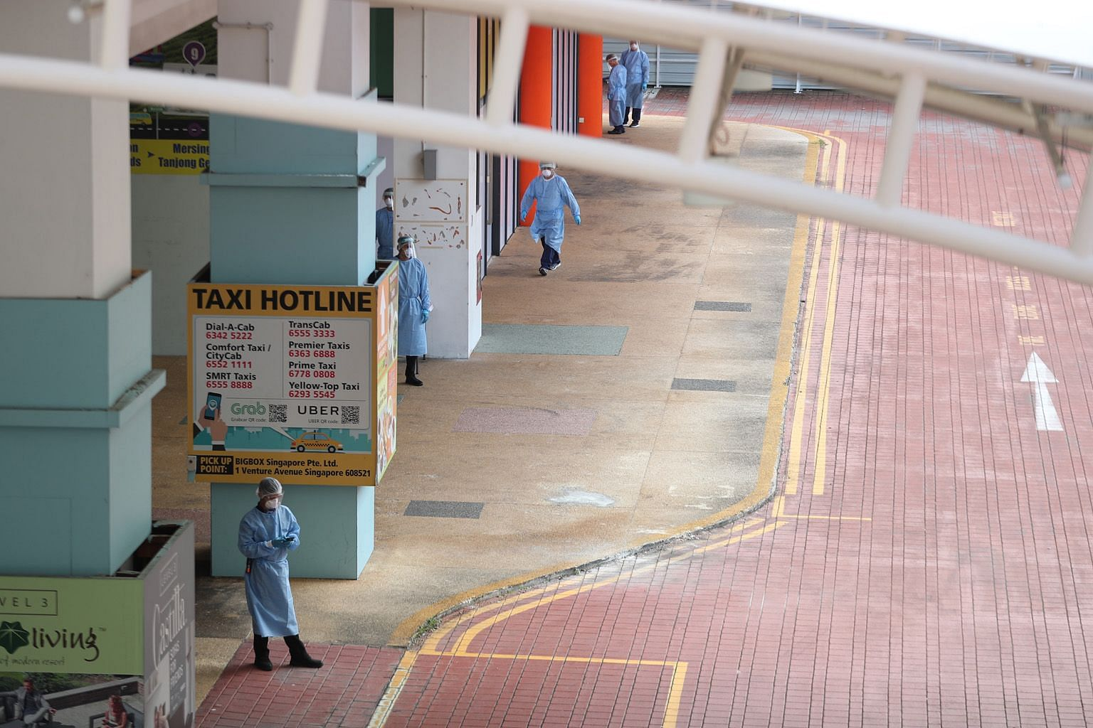 Big Box shopping mall in Jurong East, one of the most recent additions to the Government's list of community facilities, is among those still operating, said a Ministry of Health spokesman.