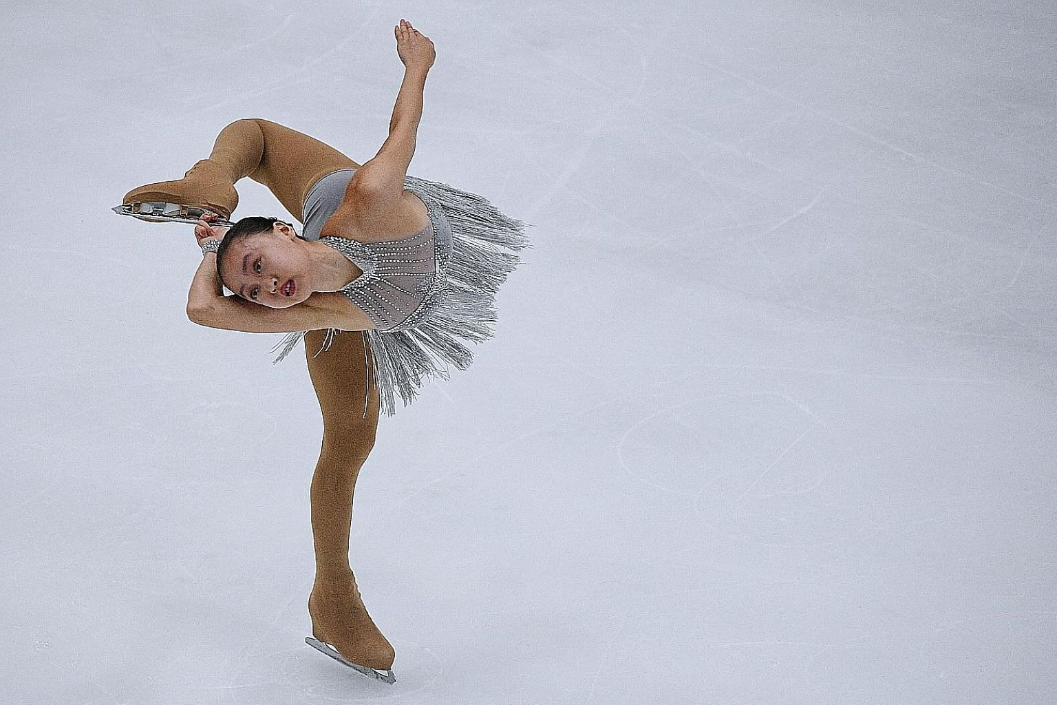 Yu Shuran on her way to the figure skating gold at the 2017 SEA Games. She says that if athlete abuse is an issue in Singapore, then she hopes those affected can talk about it and seek help from the Safe Sport Taskforce.