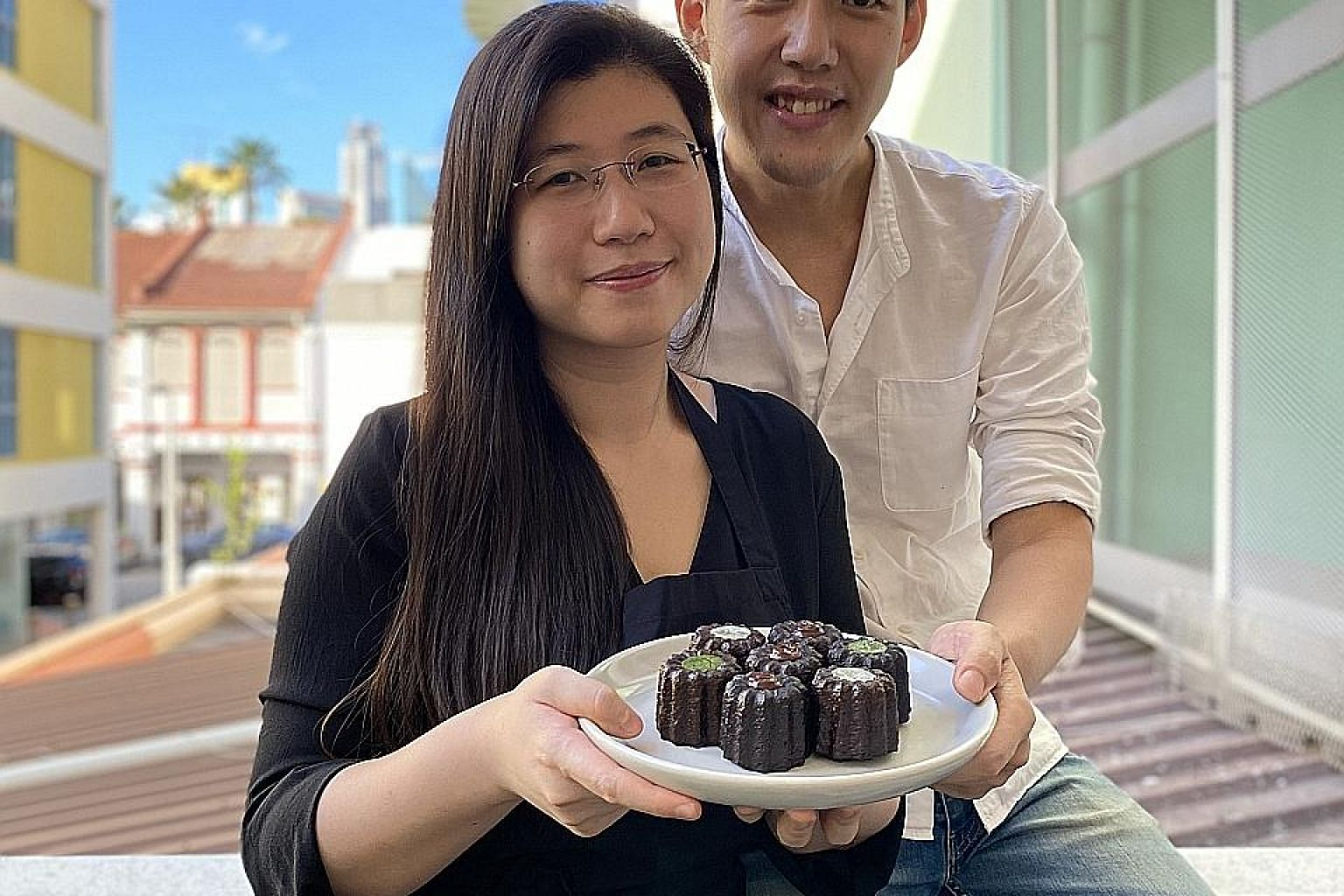 Ms Michelle Tan and Mr Cheong Qing Da of Levelled offer tasting boxes of caneles and brownies and have a wait list of more than 1,000 people.