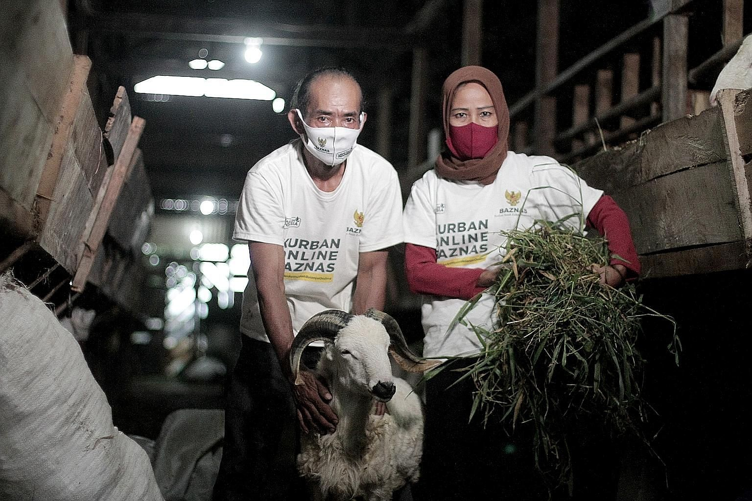 Local breeders in Bogor, West Java, who supply livestock to non-structural government agency Baznas. The korban ritual this year will be carried out at slaughterhouses instead of in mosques and public spaces, and crowds will be barred from watching t
