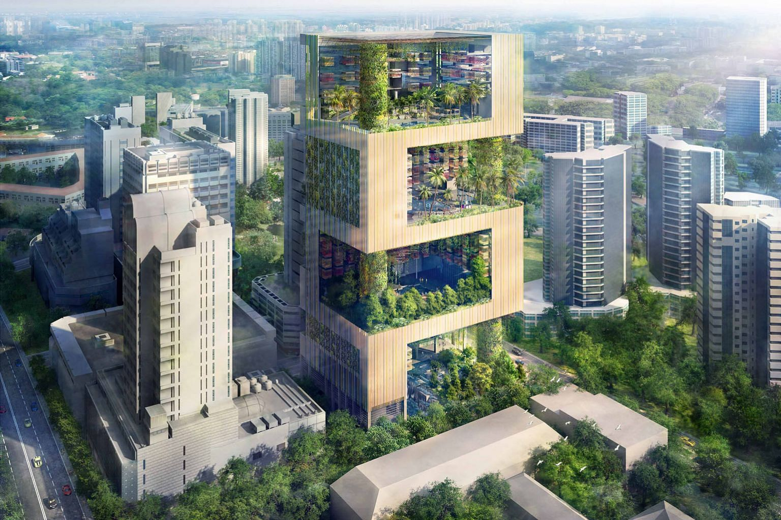 Pan Pacific Orchard was closed for redevelopment in 2018 and is targeted to reopen next year. The hotel will set a new benchmark for green hospitality, with self-sustaining sky terraces using rainwater harvesting systems and solar cells. PHOTO: UOL G