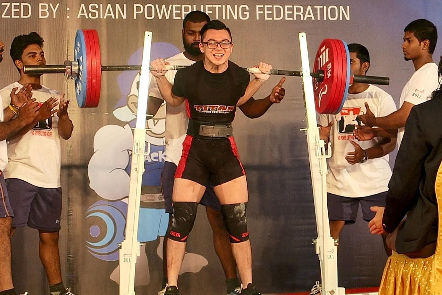 Powerlifter Matthew Yap (above) and basketball player Ng Han Bin (left) are among the six outreach ambassadors appointed by the Chiam See Tong Sports Fund.