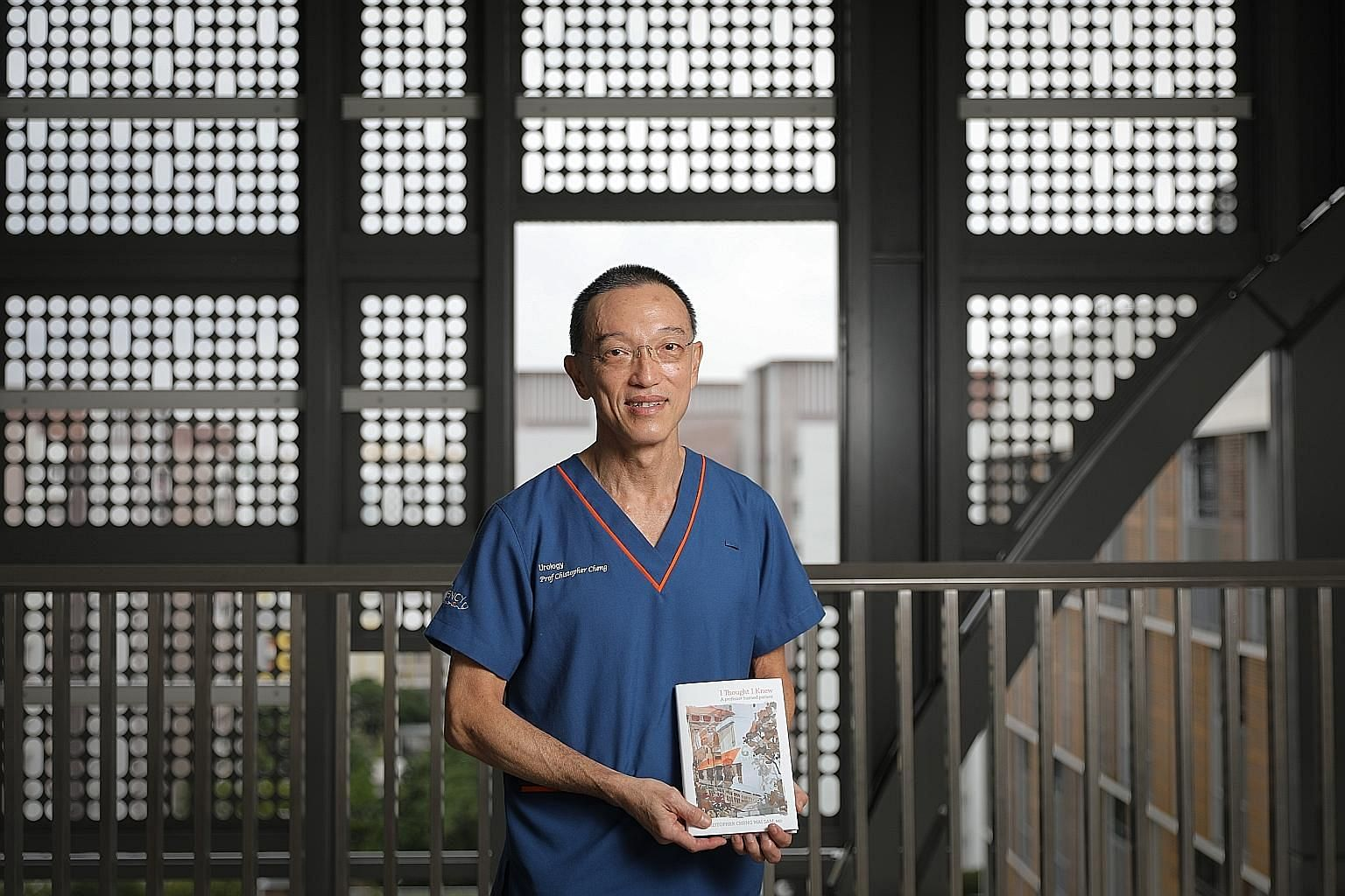 Professor Christopher Cheng was sketching by the window in hospital while recovering from prostate cancer surgery when his son visited him and suggested he document his journey from a patient's point of view. That inspired him to write I Thought I Kn