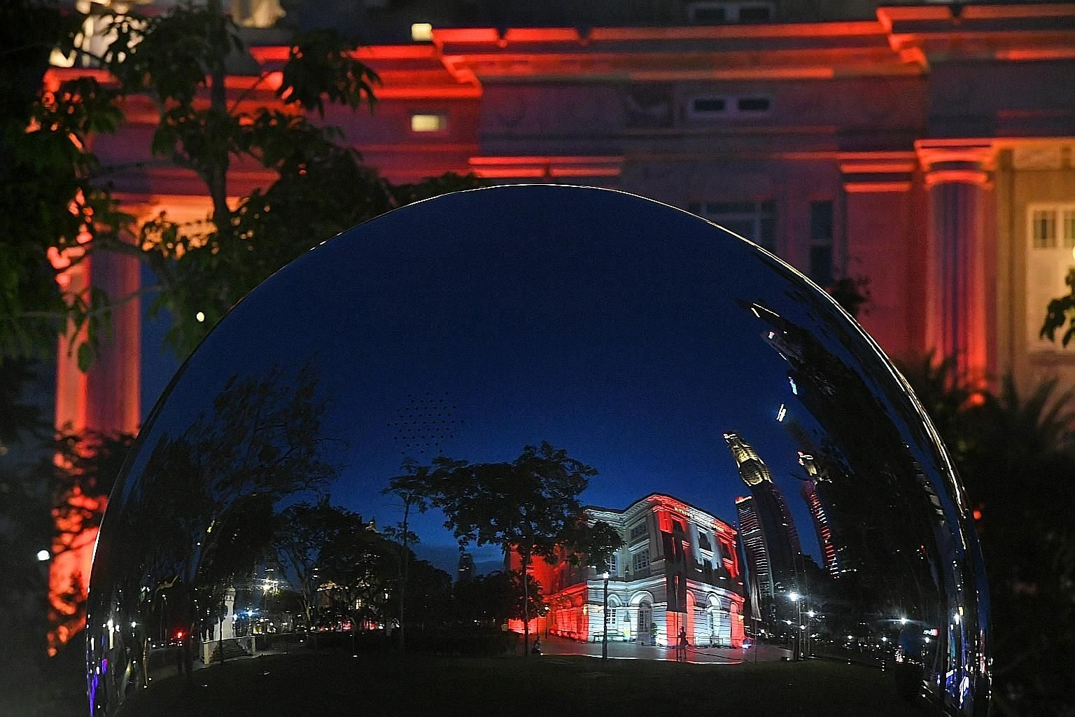 The Asian Civilisations Museum (above) and the Central Fire Station (left) are part of the light-up that will last till Aug 30.