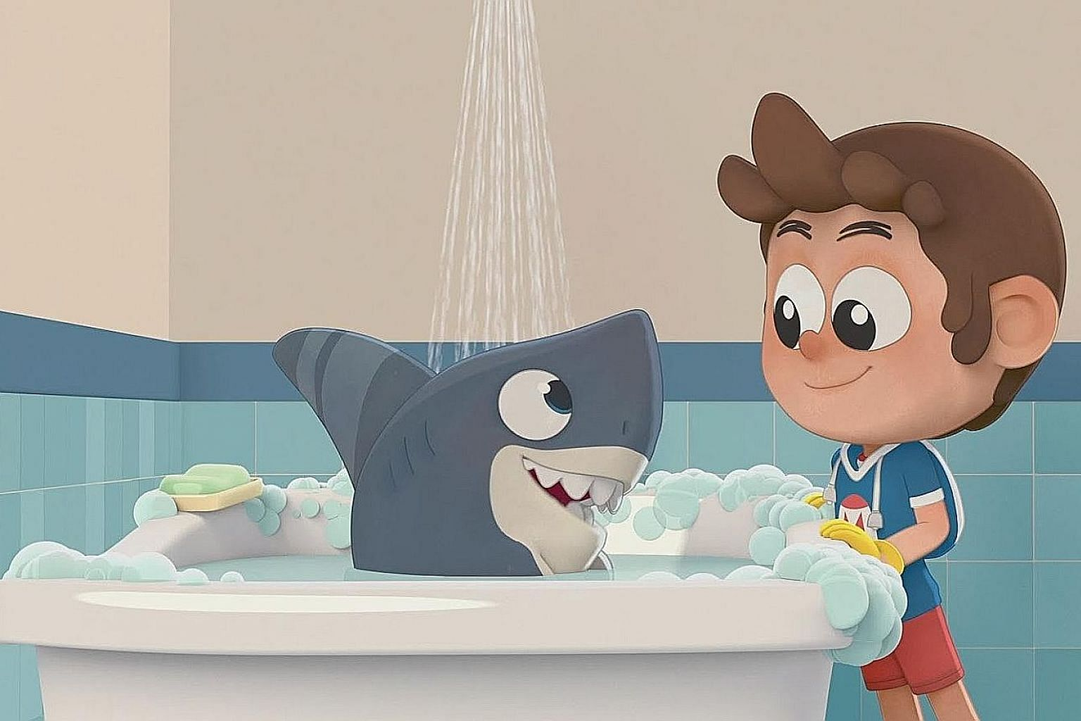 Singaporean storyboard artist Jacinth Tan (above) is the creator of the children's animated series Sharkdog (left), which is set to air next year on Netflix.