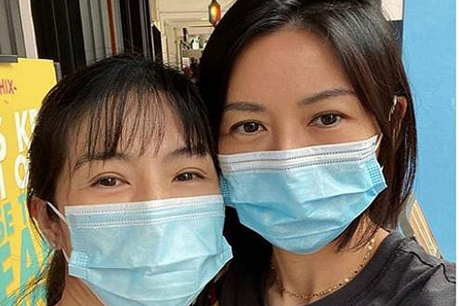 SUN AND YOUNG GO SIGHTSEEING: They were both wearing face masks, but fans recognised Stefanie Sun (left) and Charlie Young (far left) all the same. On Tuesday, home-grown singer Sun posted photos taken in Arab Street with Hong Kong actress Young. Sun