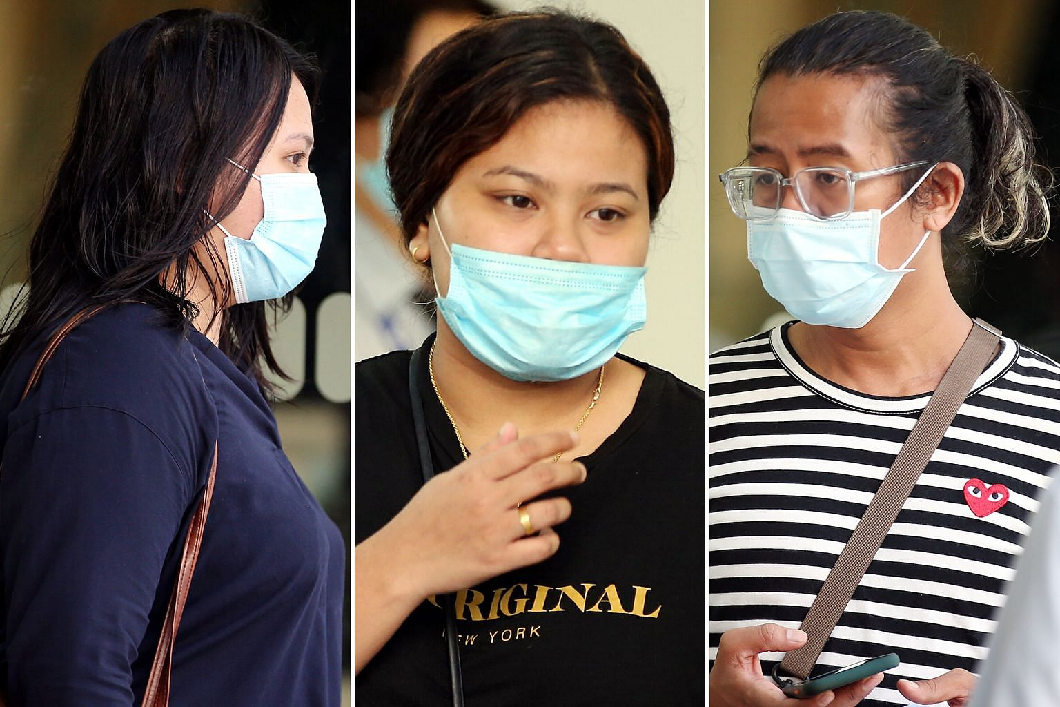 (From top) Nurul Sheilla Natasya Suhaimi, Nur Saliza Mohamed Sani and Muhammad Zaki Johari were three of the four people who were each fined $4,000 yesterday.