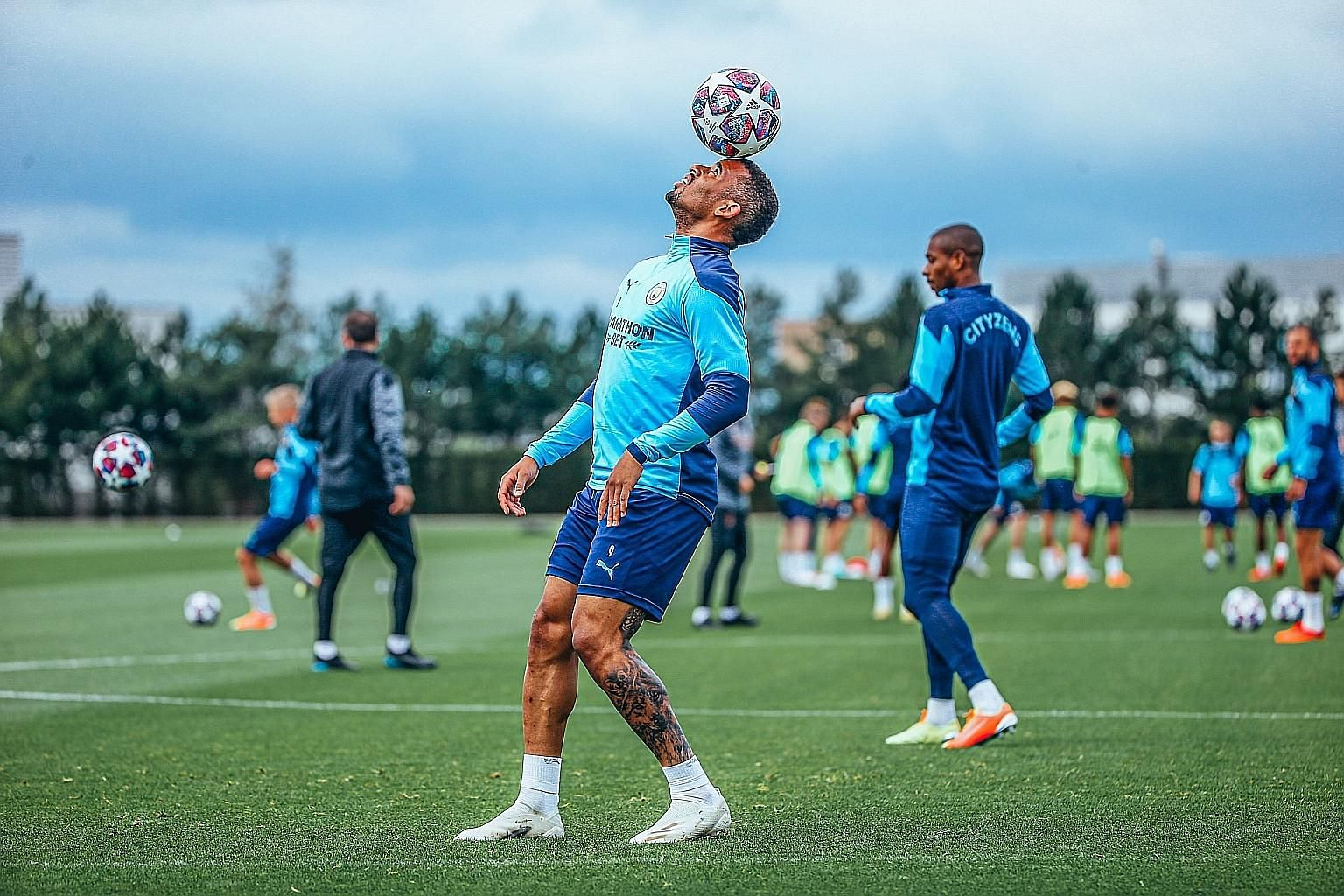Manchester City forward Gabriel Jesus will be taking the place of the injured Sergio Aguero for their last-16, second-leg Champions League clash against Real Madrid.