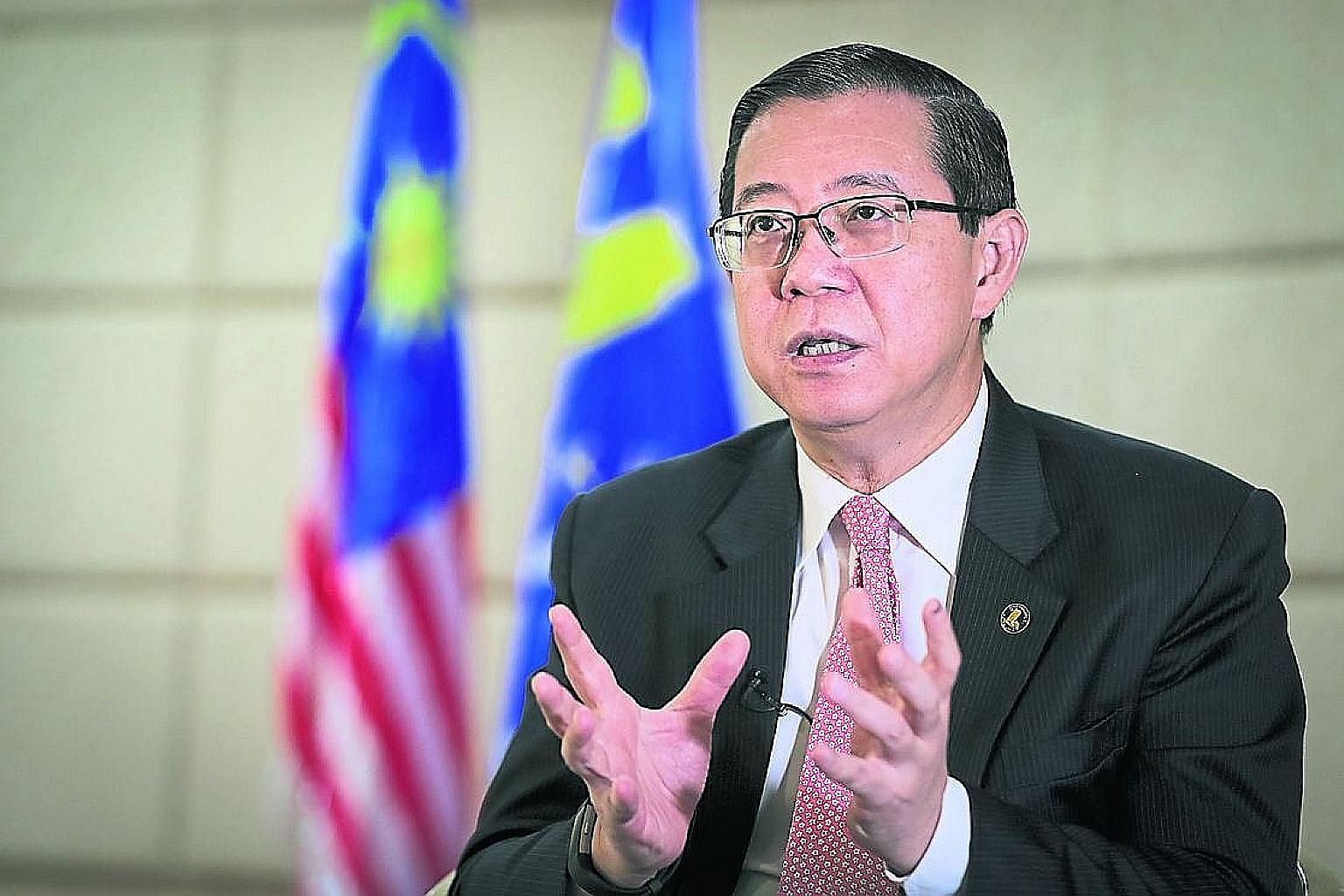Mr Lim Guan Eng was chief minister of Penang between 2008 and 2018, and early studies for the undersea tunnel started during his administration in 2016.
