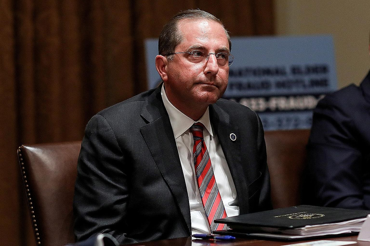 Health and Human Services Secretary Alex Azar's (left) planned visit to Taiwan is not inconsistent with previous US policy, says Secretary of State Mike Pompeo.