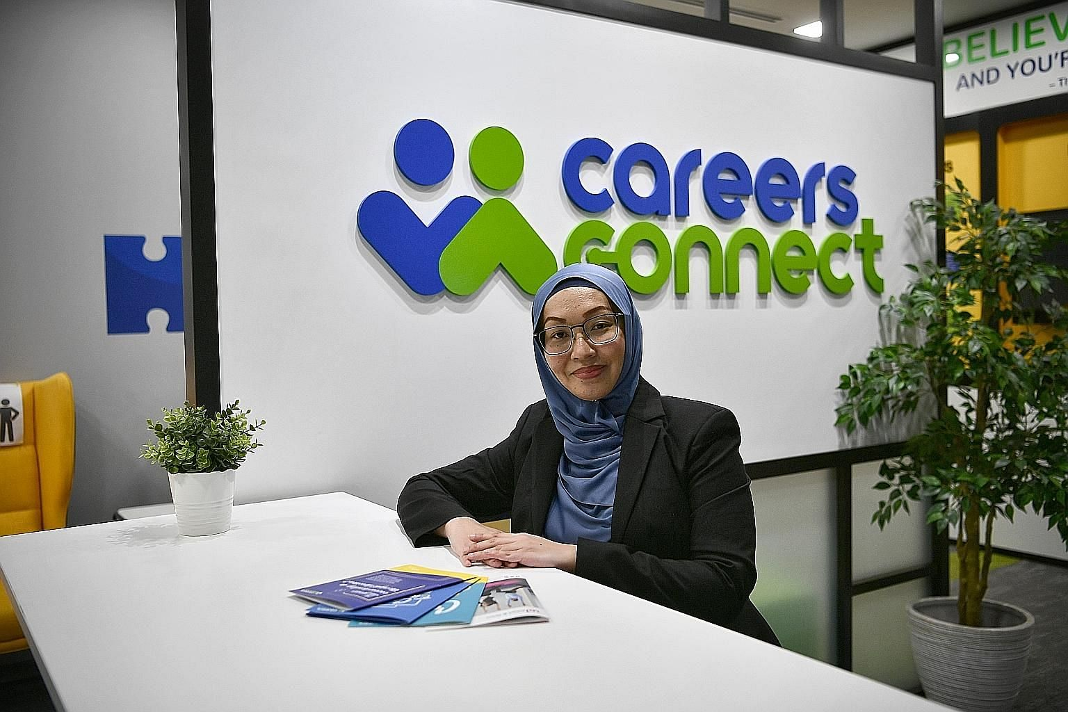 Workforce Singapore senior career ambassador Fauzyah Johari has seen more clients in recent months. Apart from assisting in job searches, she also offers advice on upgrading their skills to remain relevant.