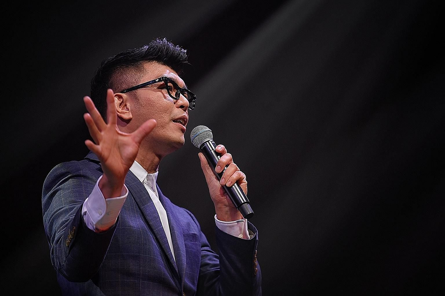 Director Royston Tan and his team had to completely revamp the evening show as the Covid-19 crisis took hold. ST PHOTO: MARK CHEONG