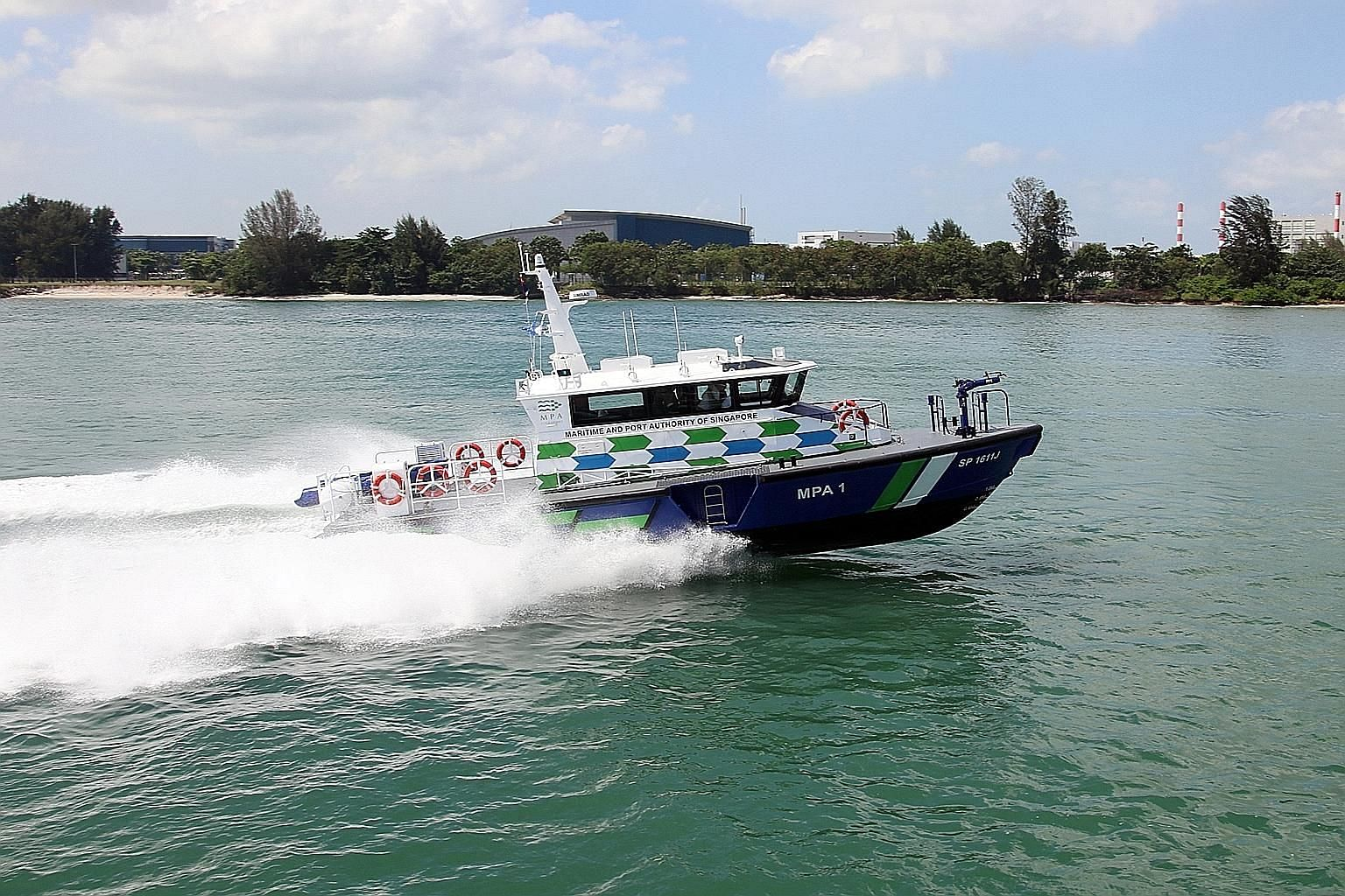 The Maritime and Port Authority of Singapore's next-generation patrol craft, launched yesterday, have multi-sensor marine thermal cameras, chemical gas detectors and drones.