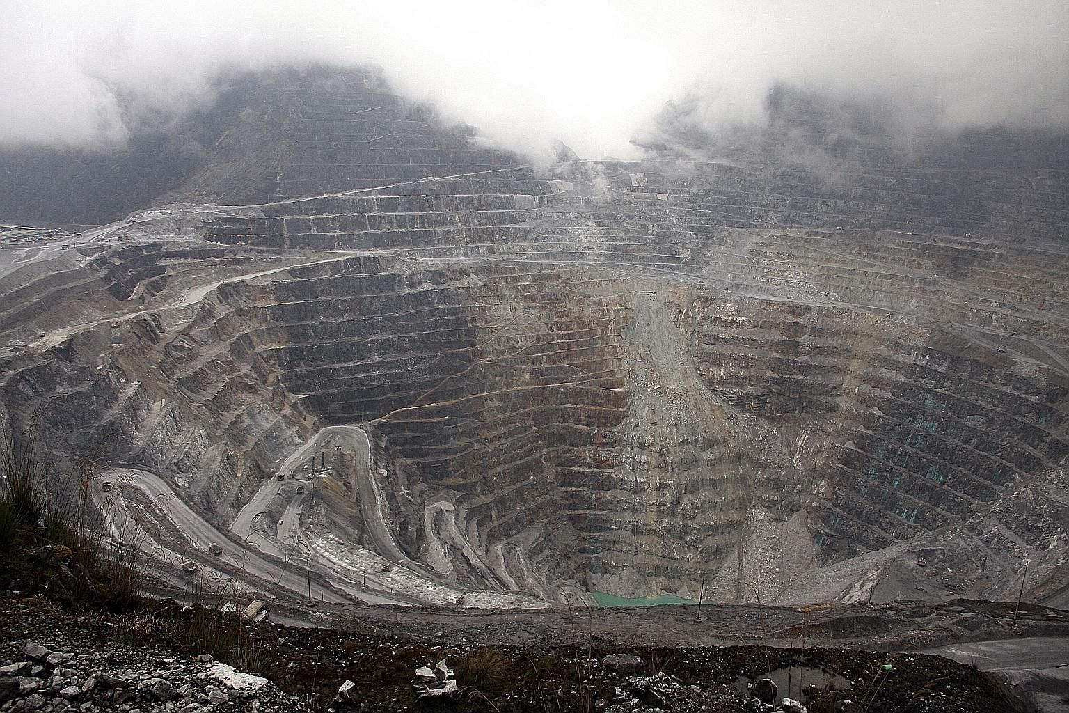 A 2013 file photo showing the Grasberg mining complex, the world's largest gold mine and second-largest copper mine, in Indonesia's Papua province. Besides Papua, Indonesia's largest gold mines can be found on Sumbawa island in West Nusa Tenggara, an