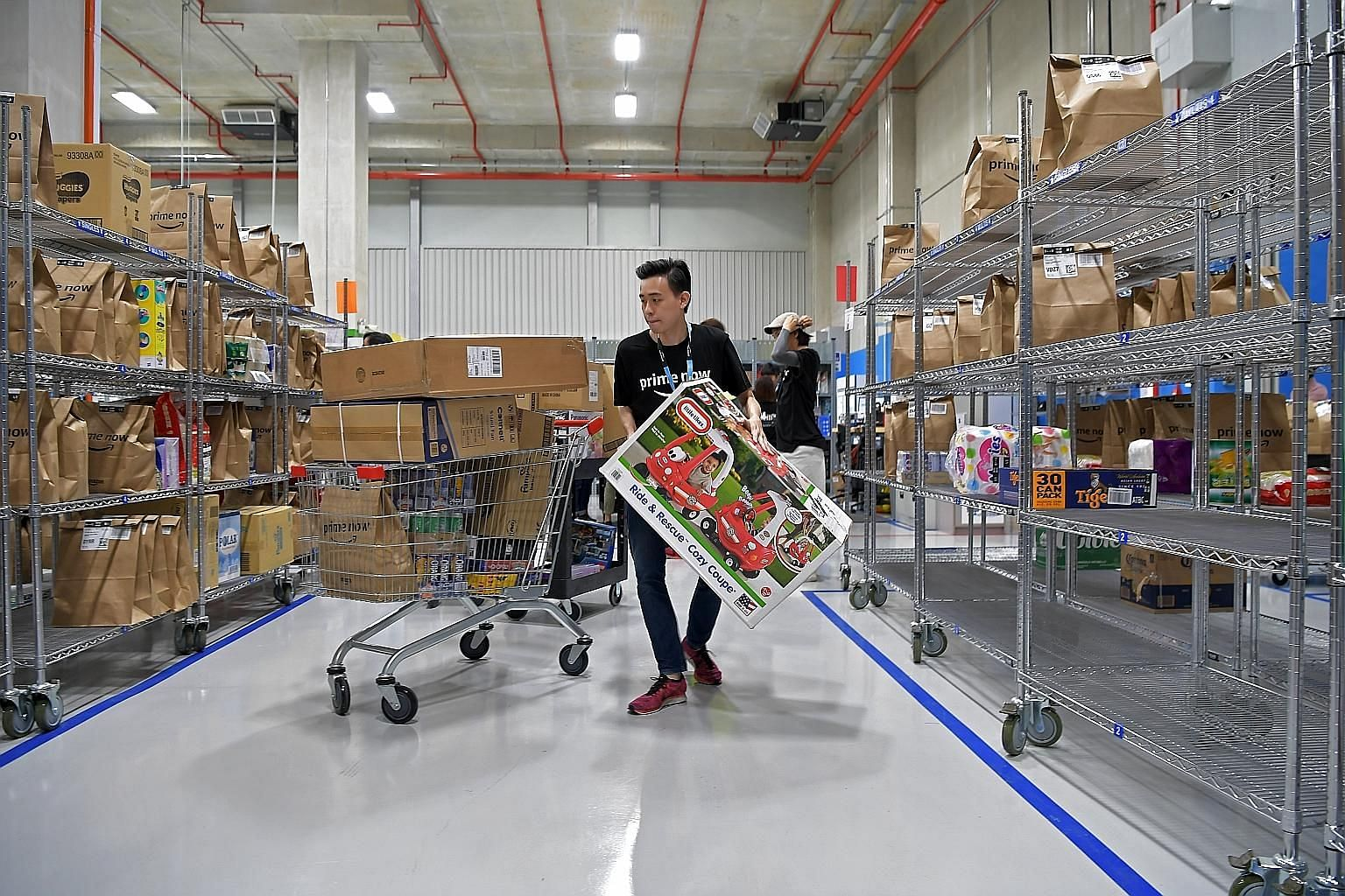 Amazon's Prime Now facility at Mapletree Logistics Hub. The e-commerce giant's anti-counterfeit programme Project Zero is now available in 17 countries, including Singapore. Each day, the programme uses machine learning technologies to scan more than