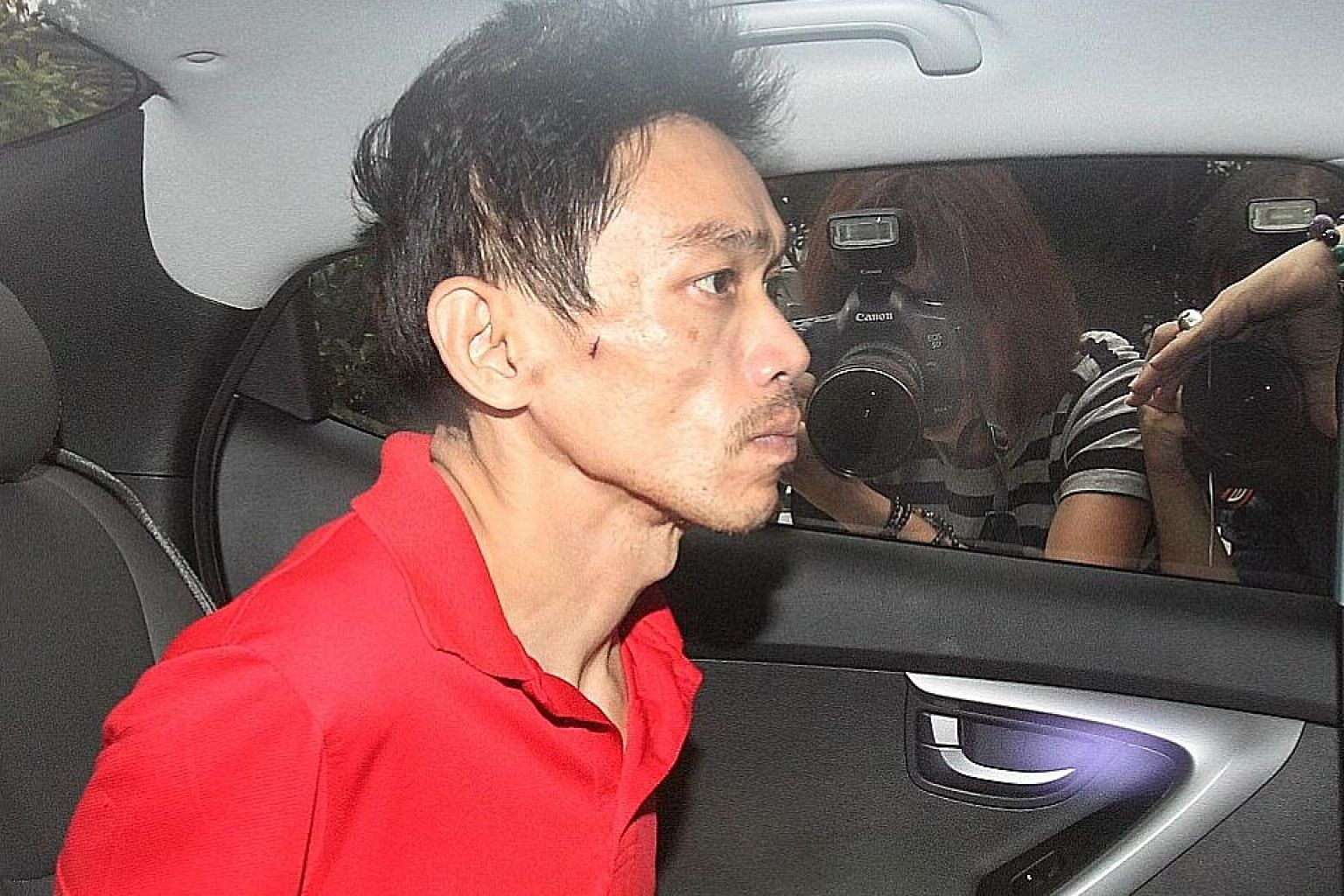 Tan Kok Meng, seen here in 2015, went on trial yesterday on a charge of murder for the death of his father on Nov 13 that year. When he was arrested, he told the police he had used his bare hands to attack his father, that they had a strained relatio