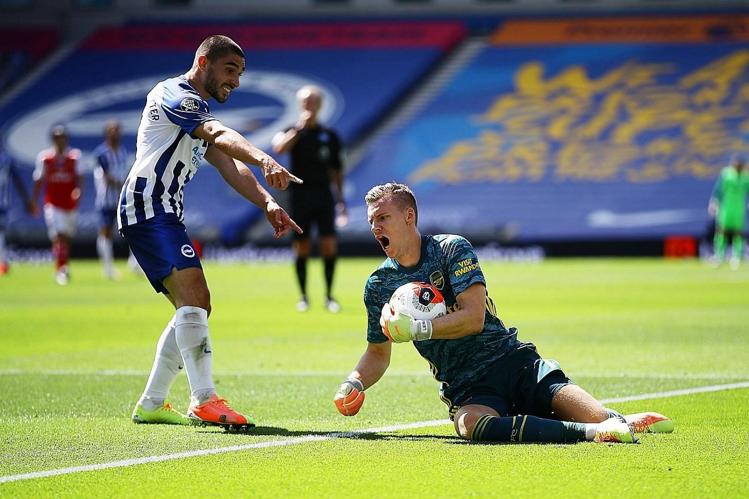 "Brighton forward Neal Maupay was involved in a clash with Bernd Leno in June that left the Arsenal goalkeeper with a knee injury. Maupay apologised for the incident but also said Arsenal players ""need to learn humility""."