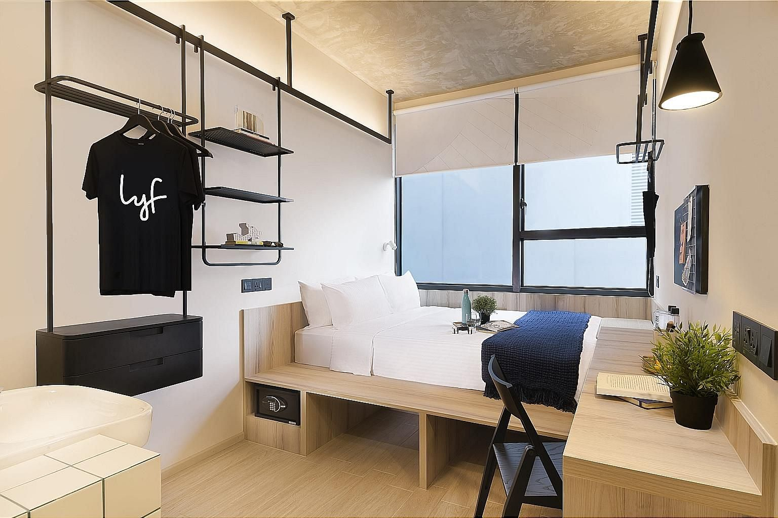 "lyf Funan Singapore is one of The Ascott's properties offering a ""work in residence"" package for working adults and students looking for an alternative to work from home or study. Rates start from $70 a day for a work suite there, and it includes a w"