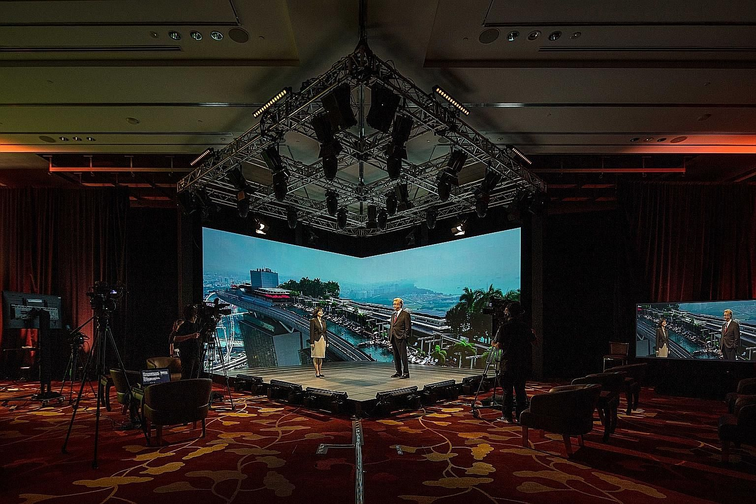 """Speakers will be able to go """"live"""" on stage despite Covid-19 travel restrictions at Marina Bay Sands' new hybrid event broadcast studio. The state-of-the-art studio has hologram functionalities that can beam presenters onto the stage to stand alongsi"""