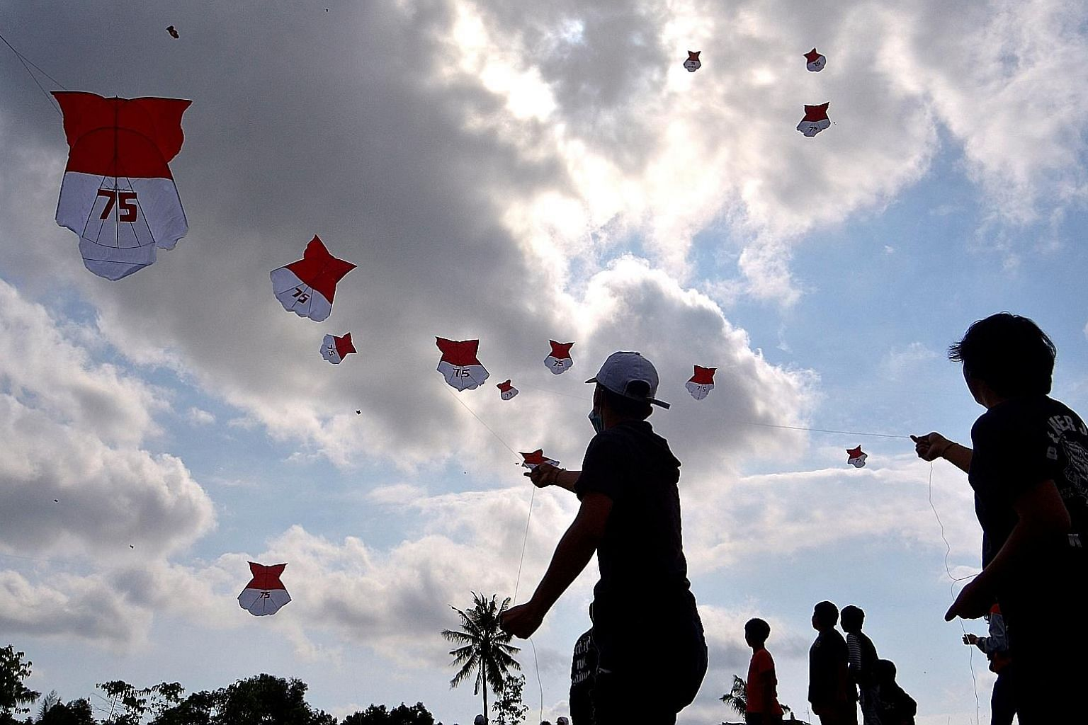 Kites being flown ahead of Indonesia's upcoming 75th Independence Day, in Bali on Aug 8. The public mood is not buoyant amid the pandemic and other issues, the writer says, but it is worth highlighting the pivotal changes made early in the post-Suhar