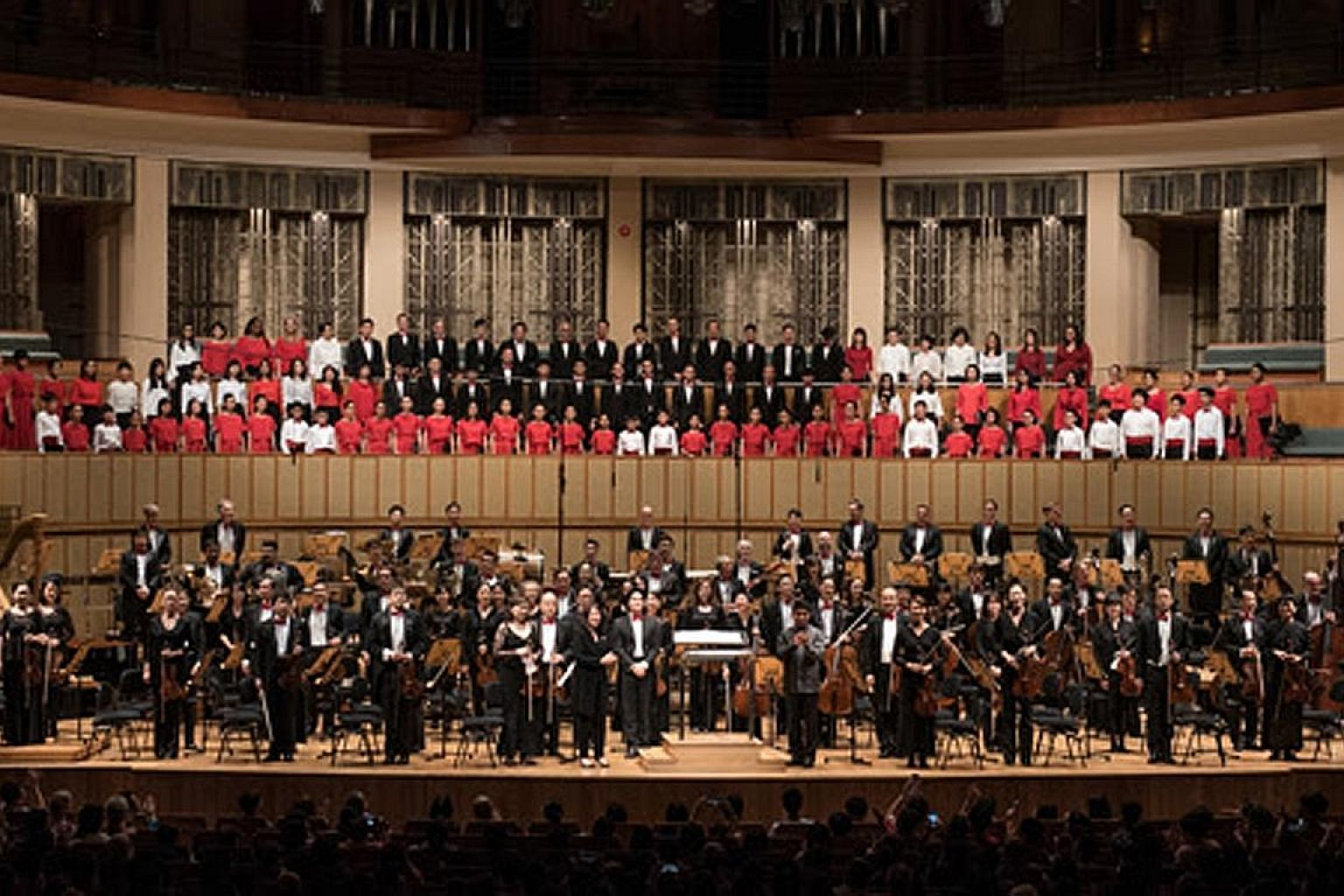 Four new works and other familiar home-grown tunes were part of the Singapore Symphony Orchestra's (above) National Day Concert last week.