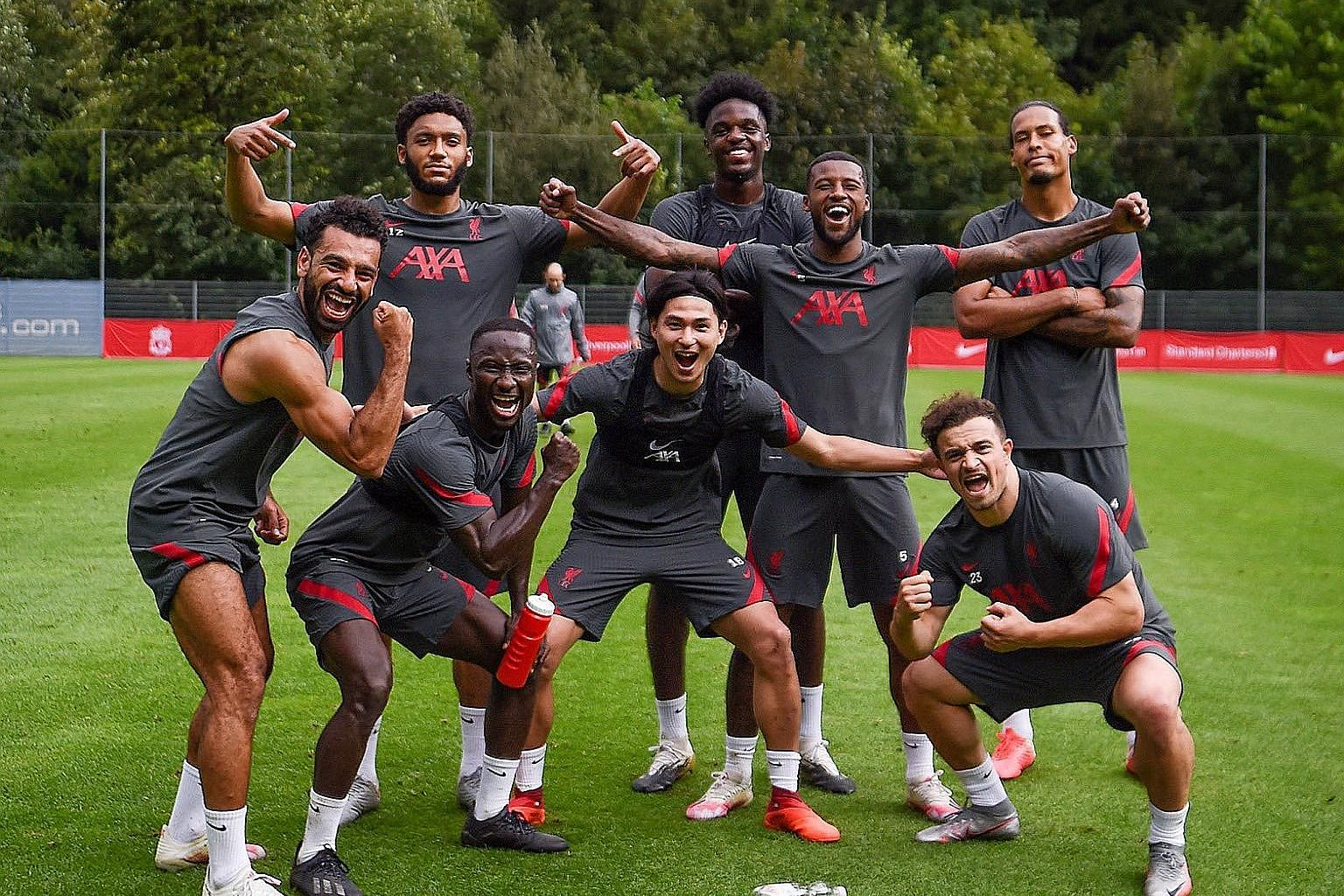 "SWEET TWEET Liverpool's Gini Wijnaldum asks fans to ""caption this"" as the Reds take a break during their pre-season training camp."
