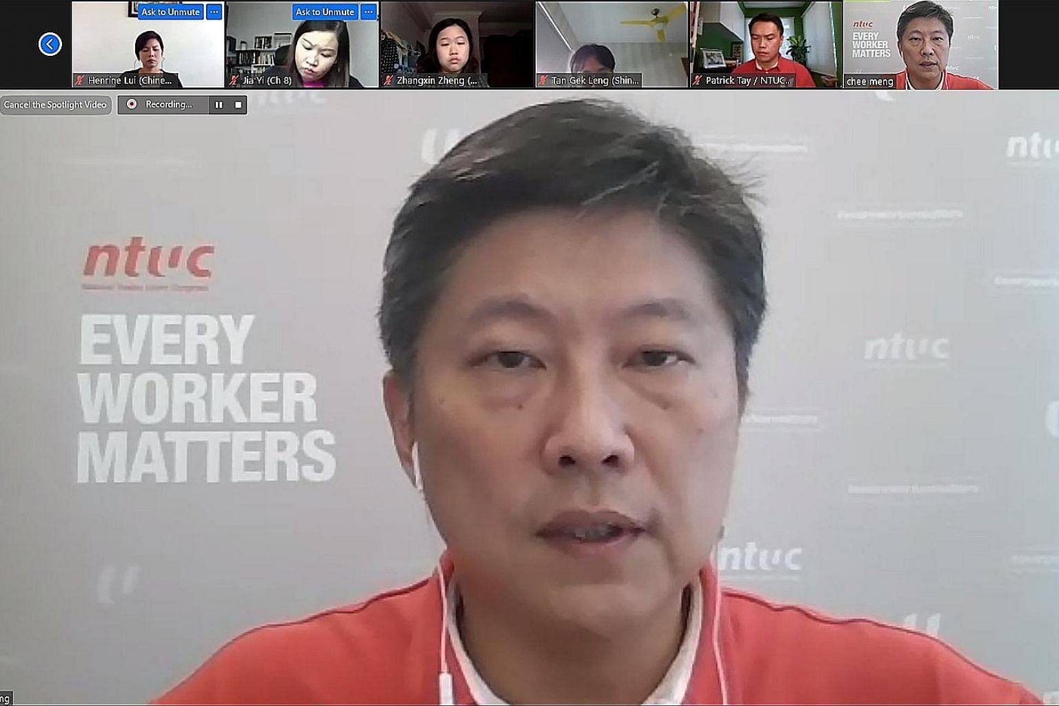 Speaking to reporters via video link, NTUC chief Ng Chee Meng said it wants to work with the Government to review foreign manpower policy options.