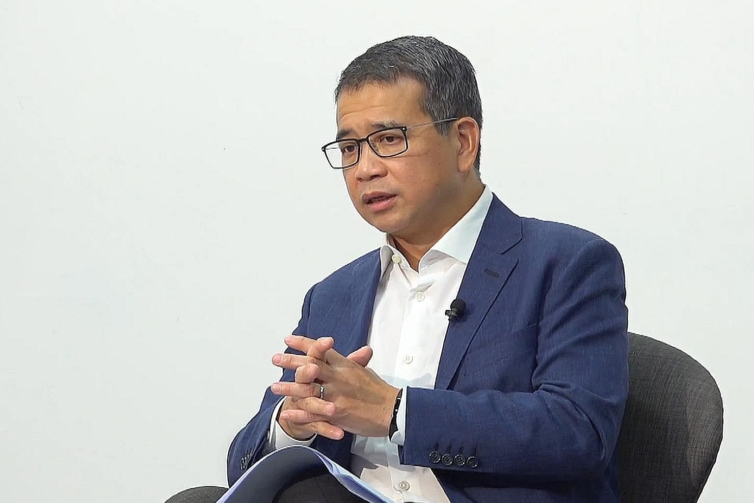 Second Minister for Law Edwin Tong spoke yesterday at a webinar on the challenges for individuals, families and business during the pandemic.