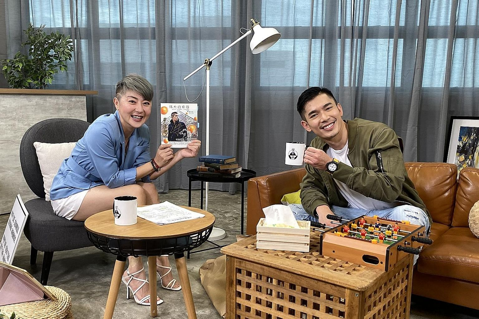 (Above) Host Quan Yifeng and actor Elvin Ng in weekly talk show Hear U Out. (Left) Cho Seung-woo and Bae Doona as a prosecutor and detective in police drama Stranger 2.